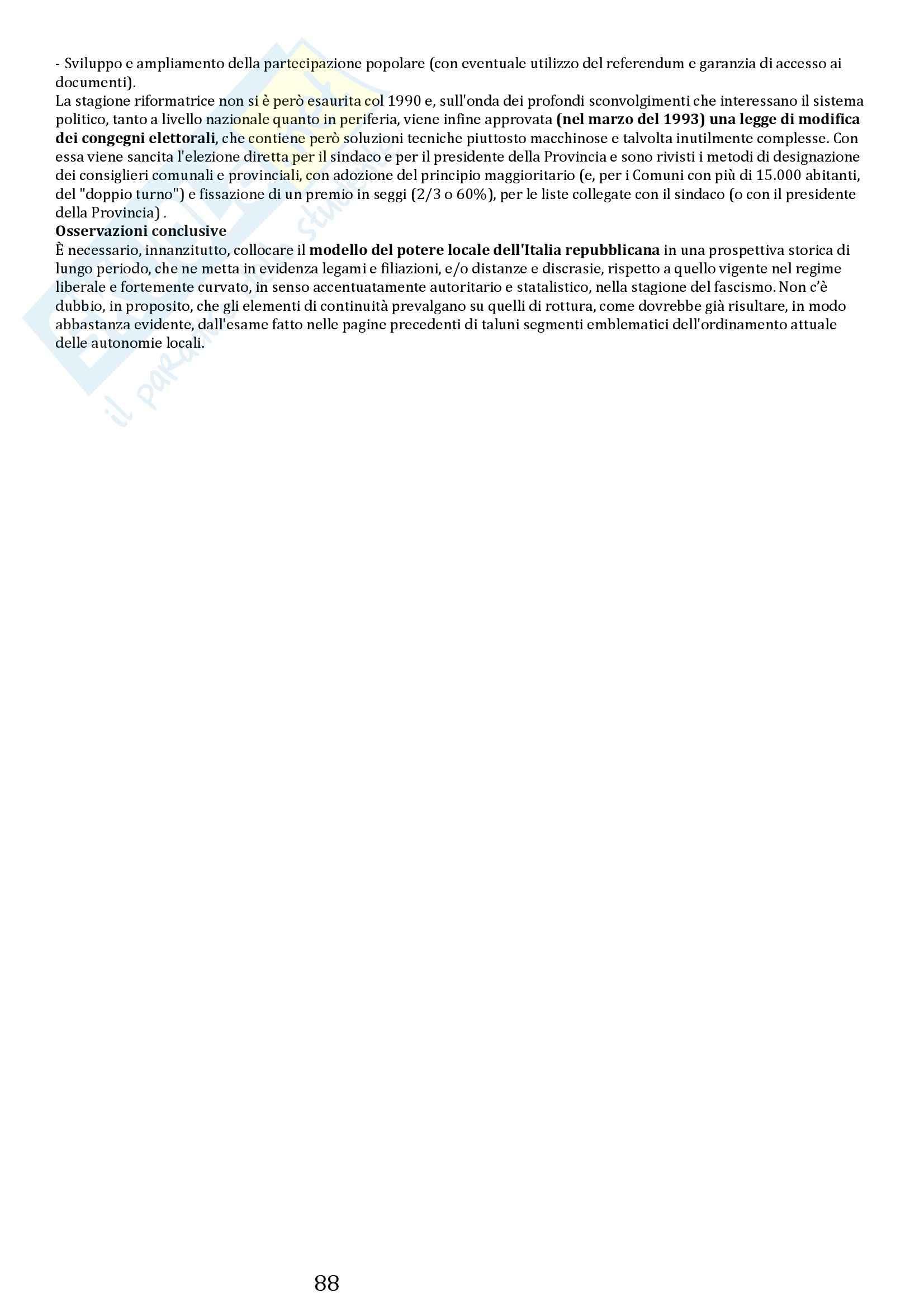 Riassunto esame Storia delle Istituzioni, prof. Bobbi, libro consigliato Stato e poteri locali in Italia, Aimo Pag. 31