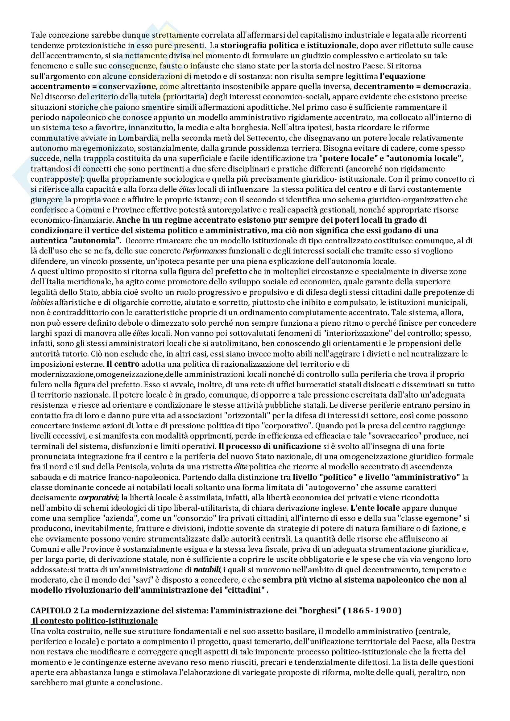 Riassunto esame Storia delle Istituzioni, prof. Bobbi, libro consigliato Stato e poteri locali in Italia, Aimo Pag. 6