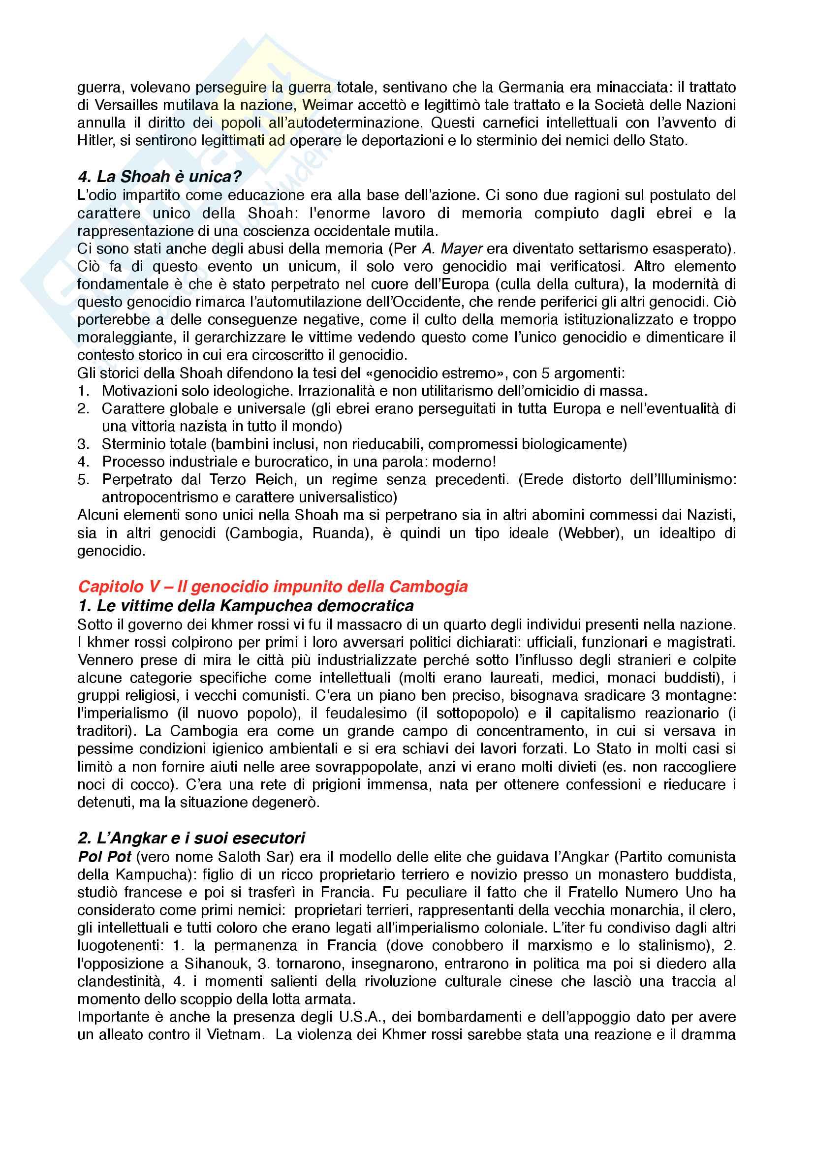 Riassunto esame Storia contemporanea, prof. Novarino, libro consigliato Il secolo dei genocidi,Bruneteau Pag. 6