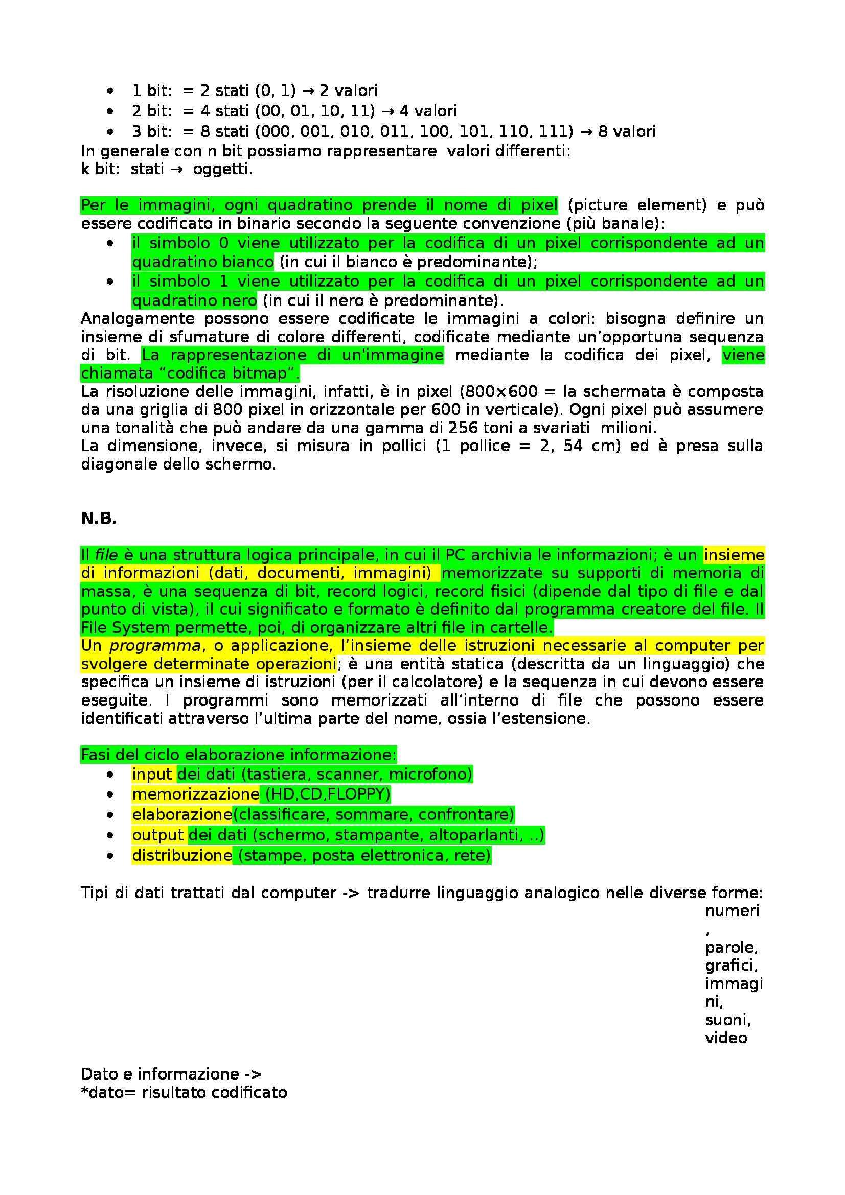 Informatica di base - Appunti Pag. 2
