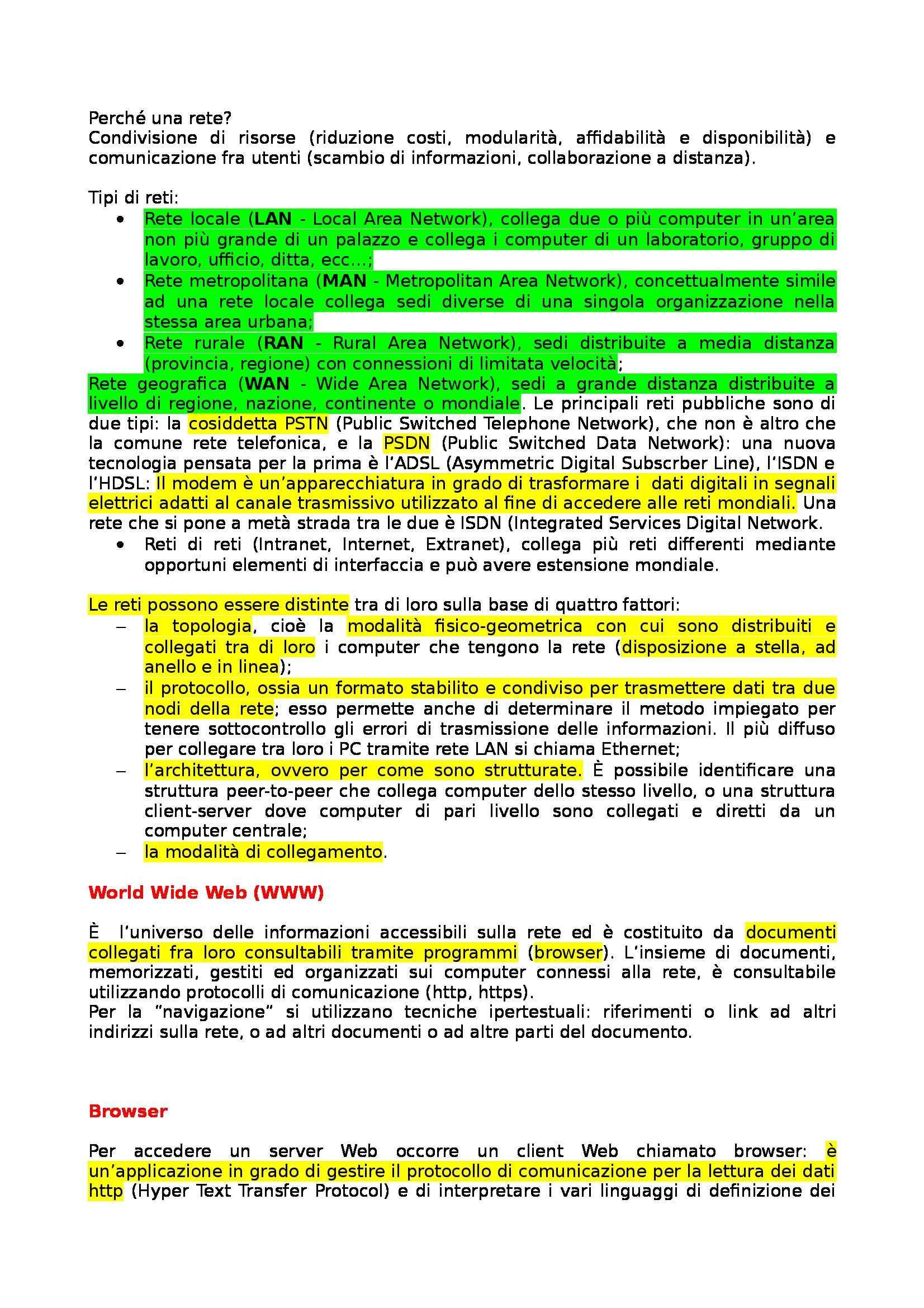 Informatica di base - Appunti Pag. 6