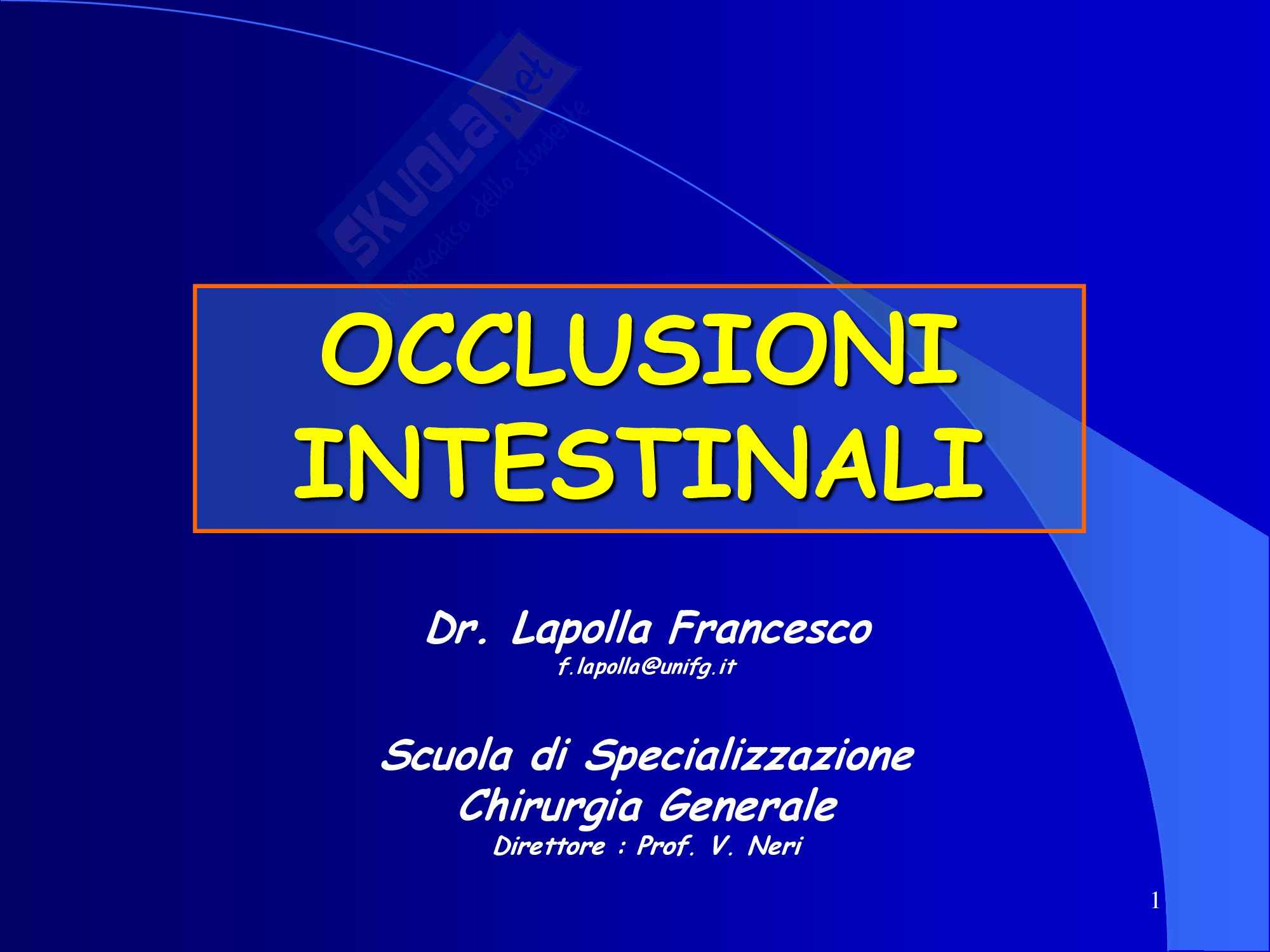 Occlusione Intestinale - parte 2