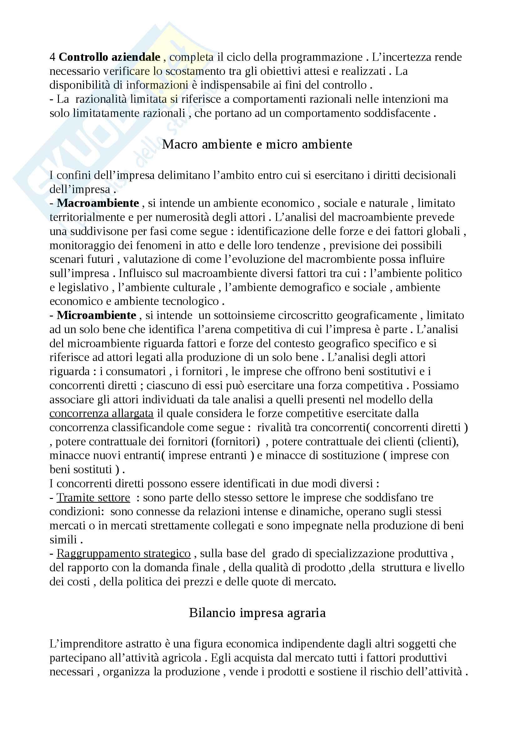 Riassunto esame di Economia agraria, Prof.Gaetano Martino Pag. 6