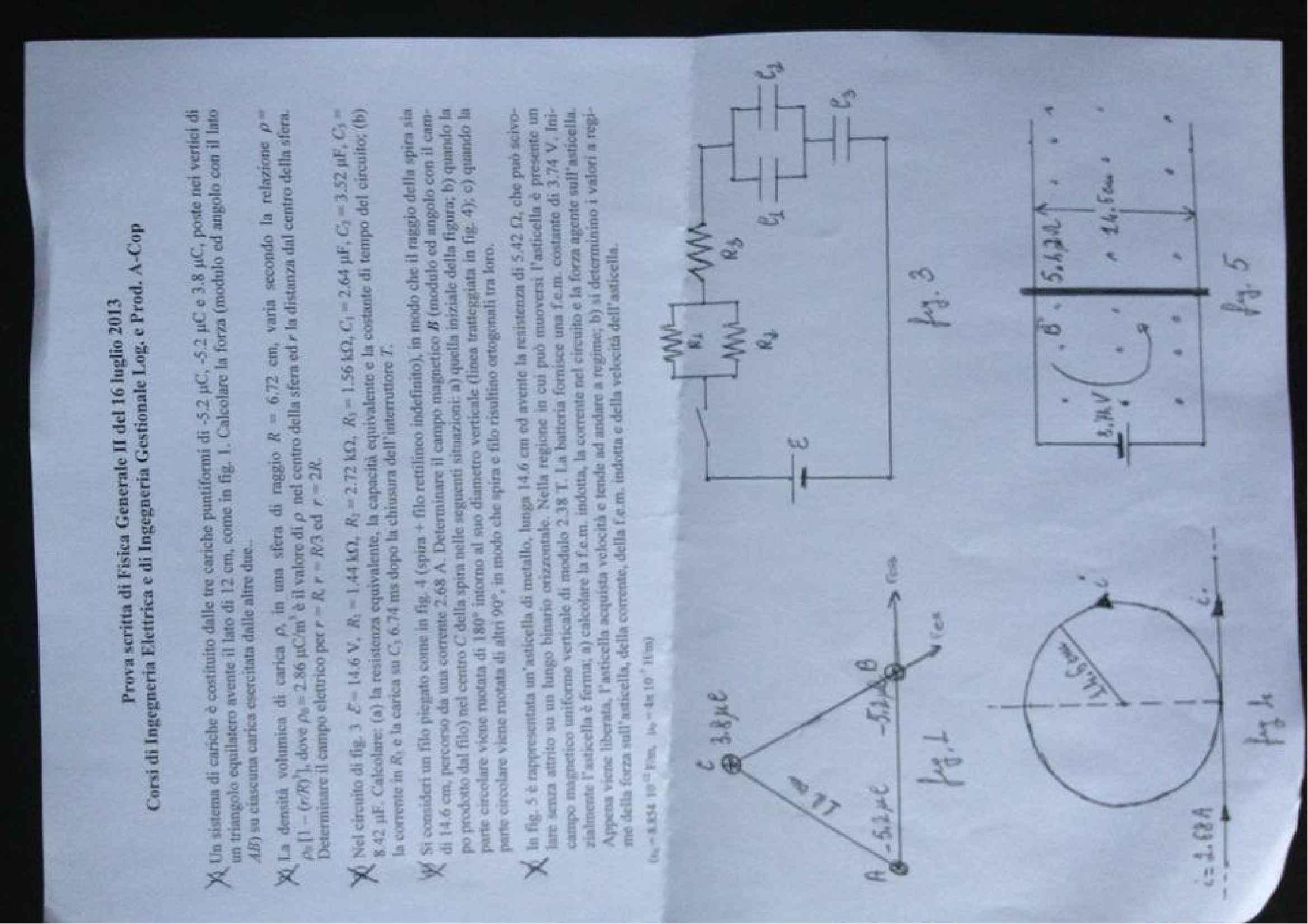 esercitazione R. Bruzzese Fisica generale