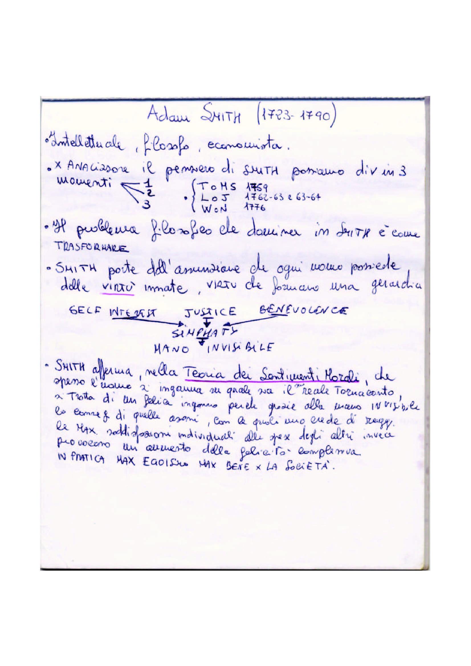 Riassunto esame Storia del Pensiero Economico, prof. Privitera, libro consigliato Breve Storia dell'Economia Politica, Faucci
