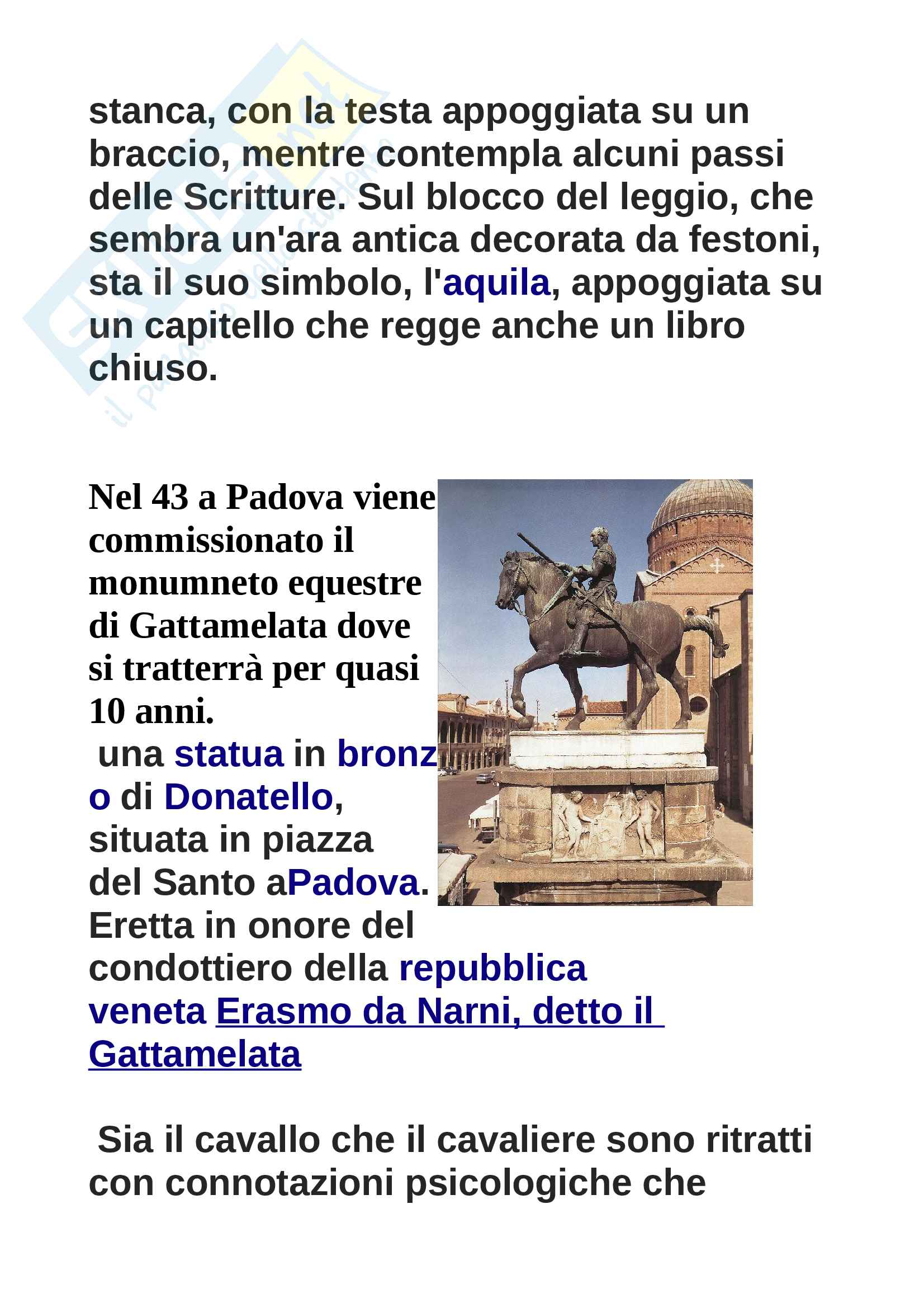 Donatello, storia dell'arte Pag. 21