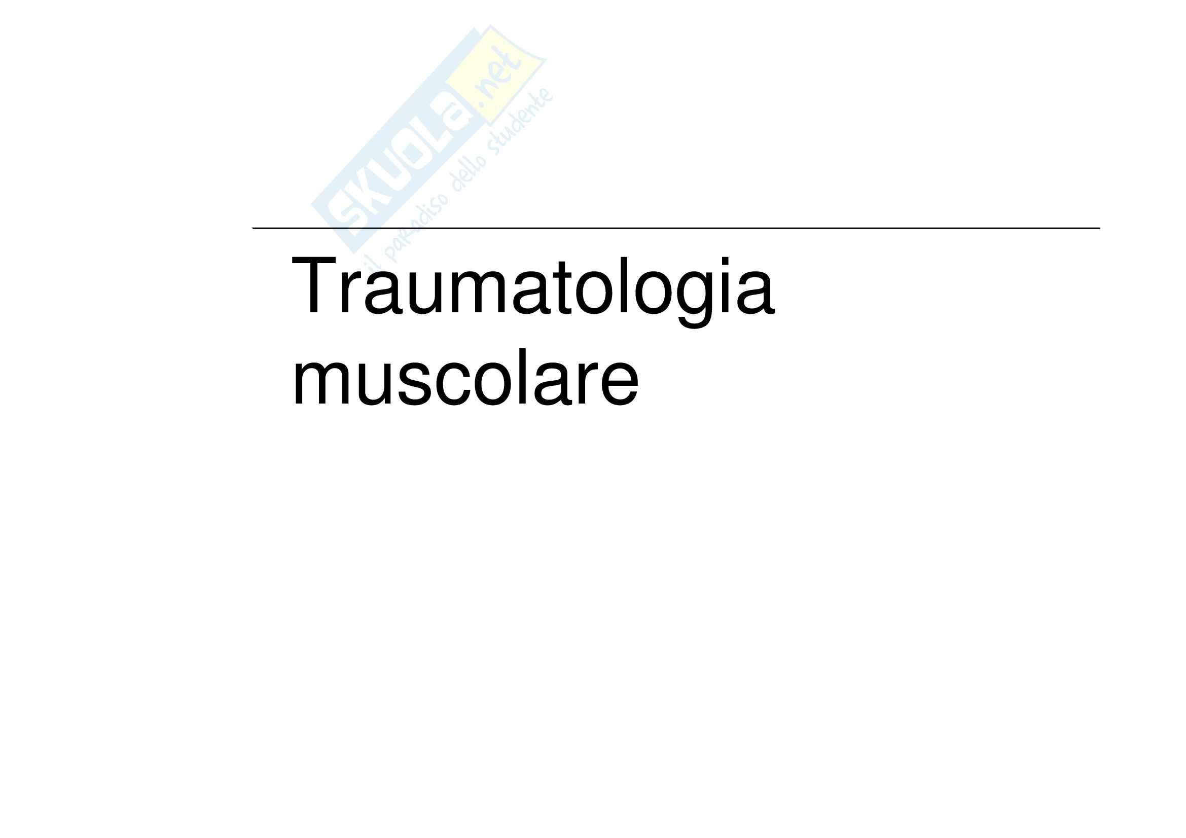 Traumatologi dello sport - traumi muscolari
