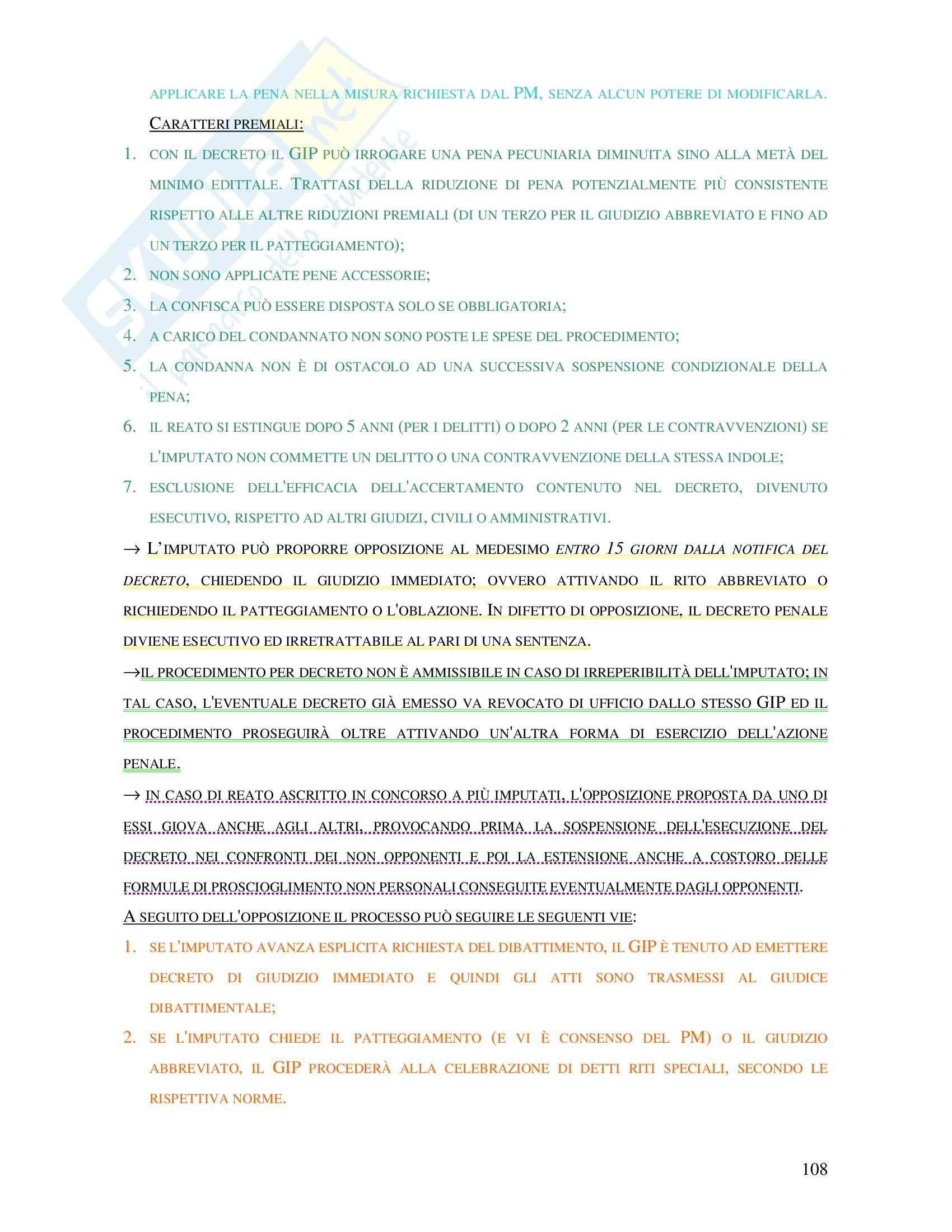 Diritto penale - procedimenti speciali Pag. 6