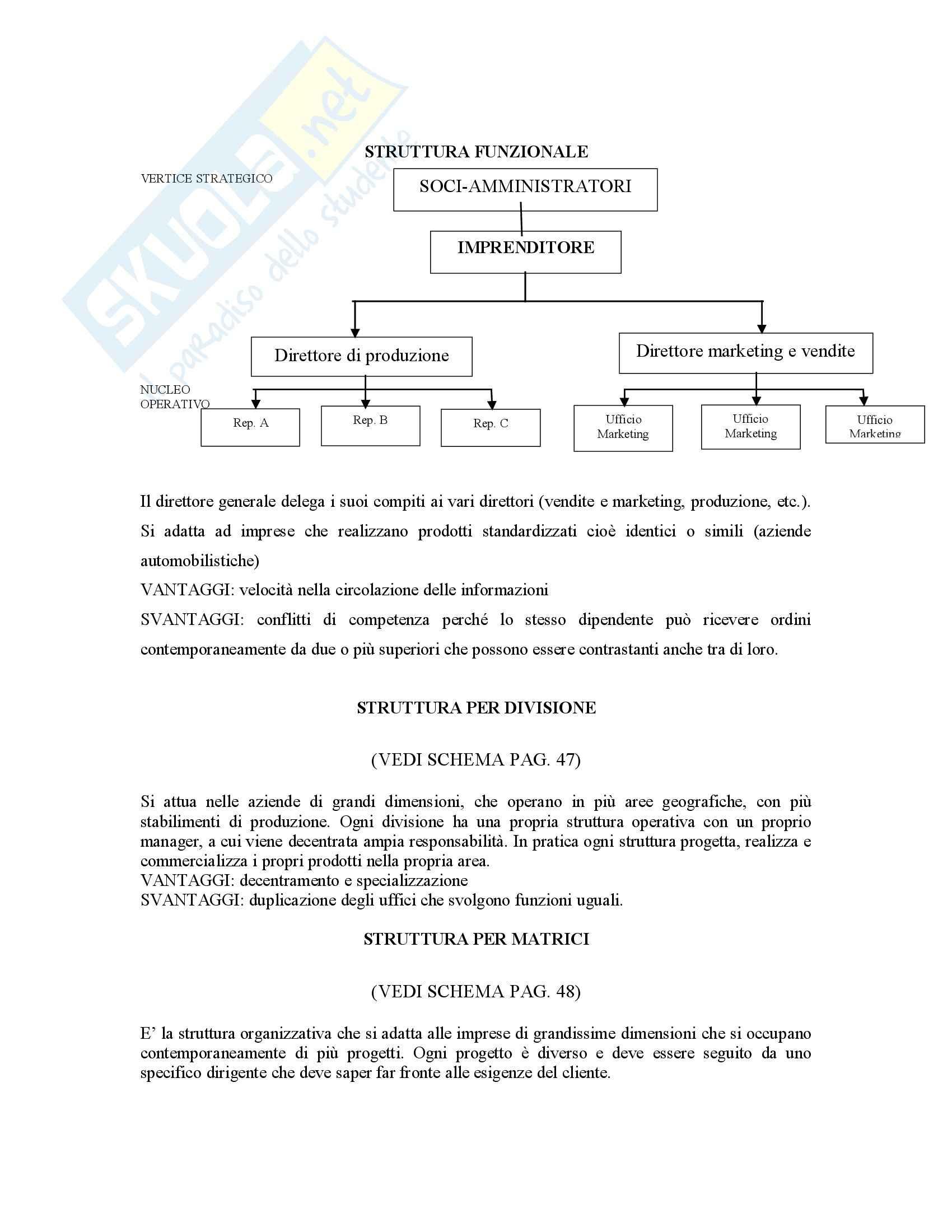 Organizzazione aziendale - Riassunto esame Pag. 6