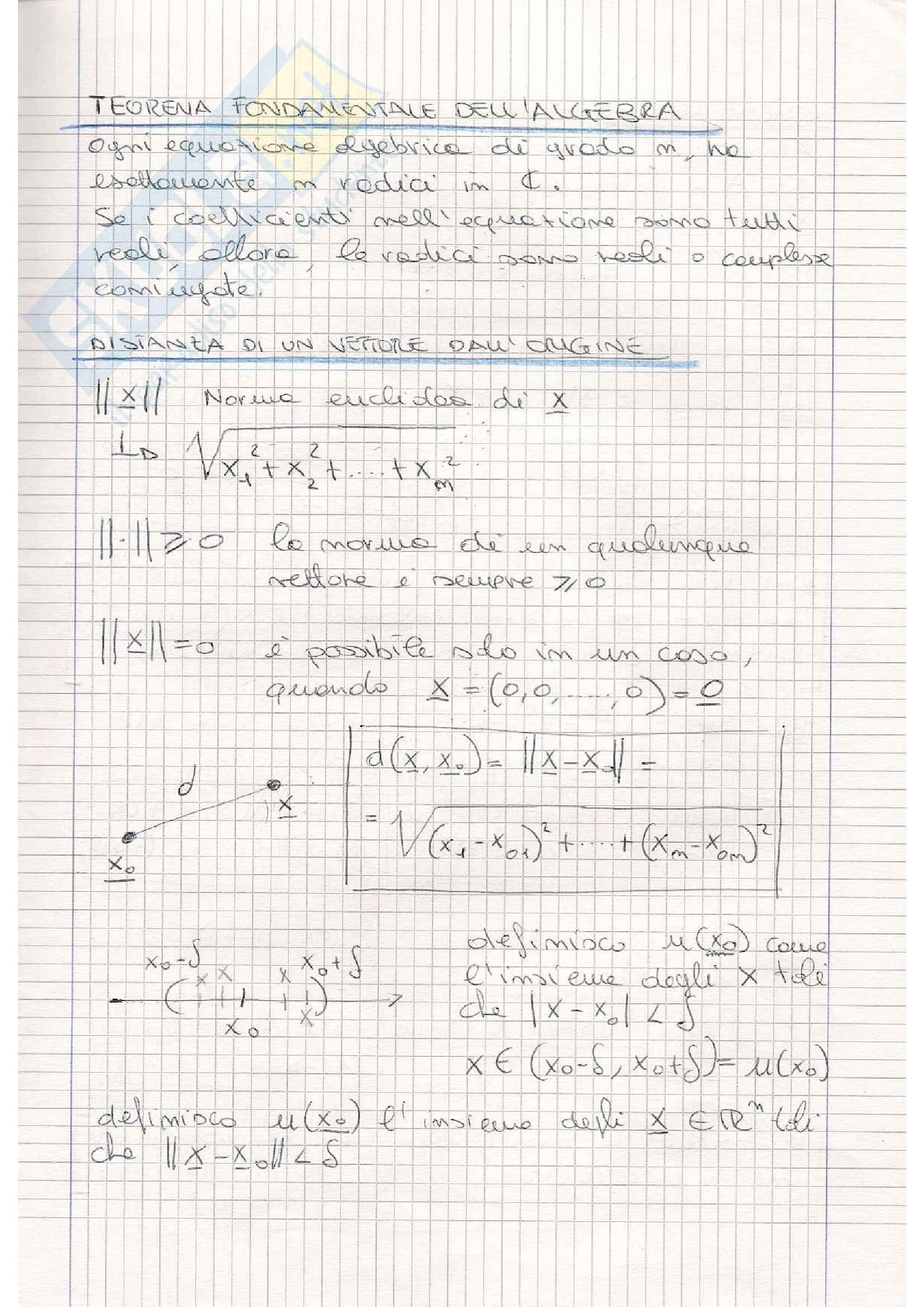 Matematica 2 - Appunti