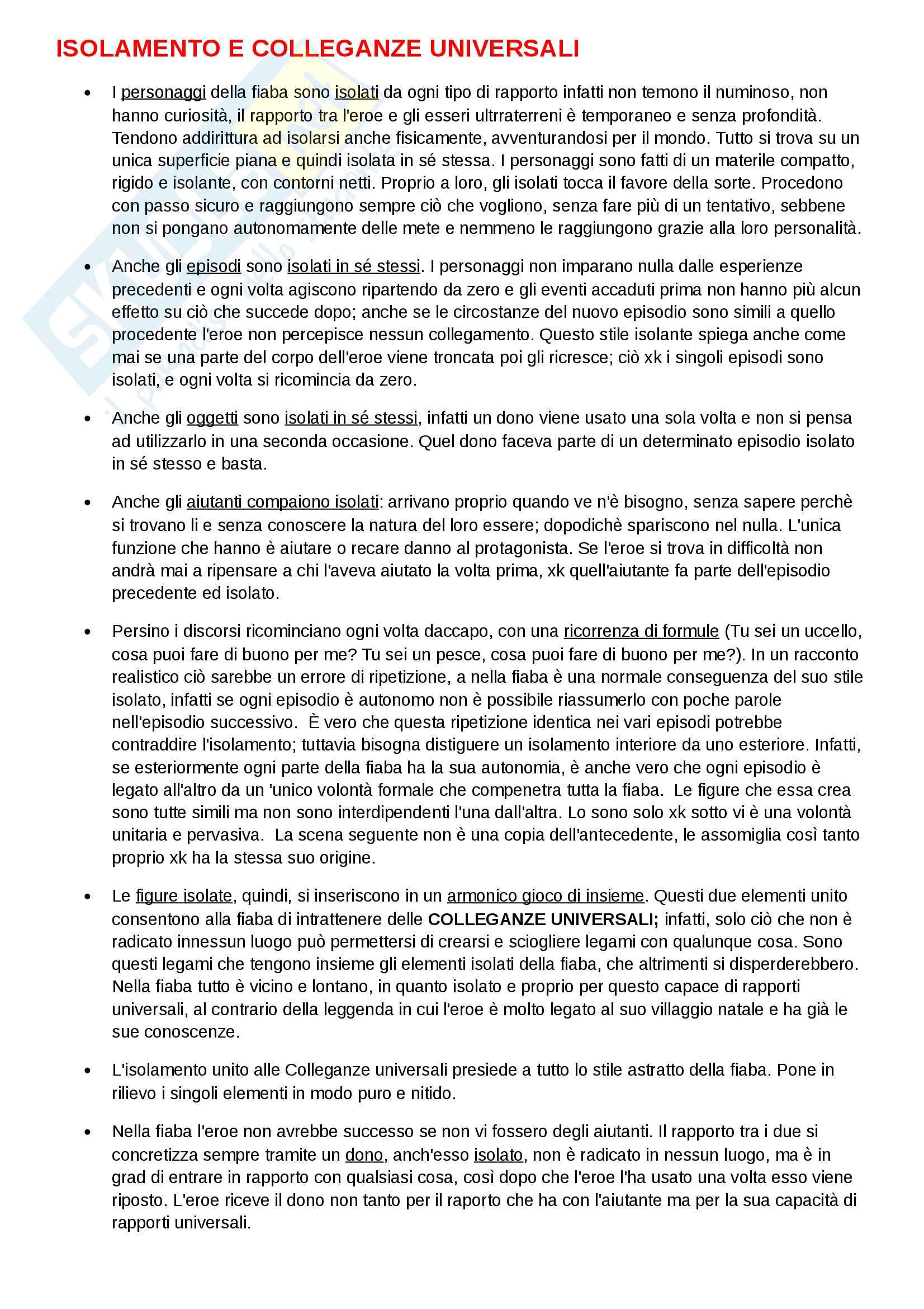 Riassunto esame Semiotica del testo, prof. Pisanty, libro consigliato La Fiaba Popolare Europea, Max Luthi Pag. 2