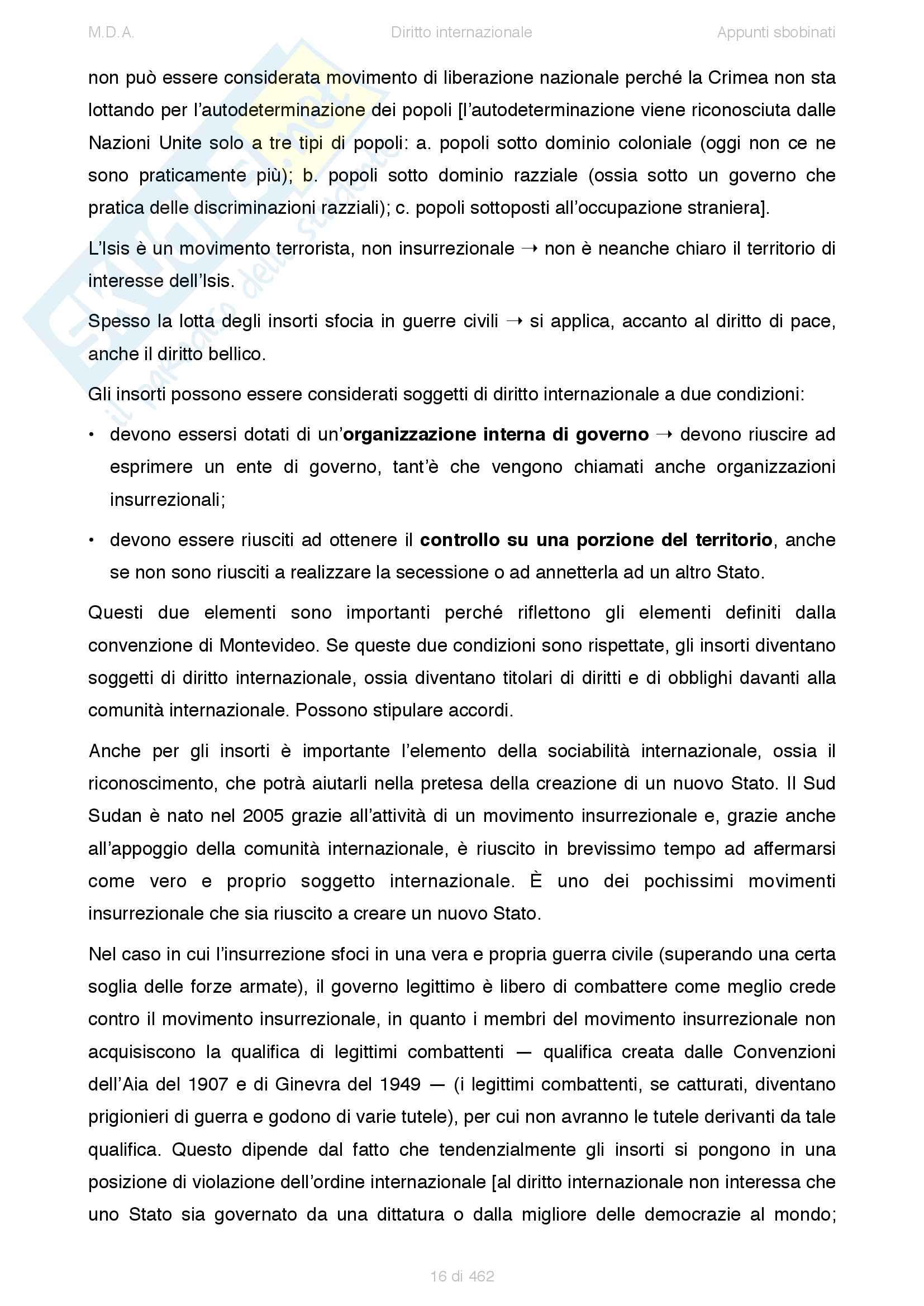Appunti di Diritto internazionale (2015) - prof. Sciso E. Pag. 16
