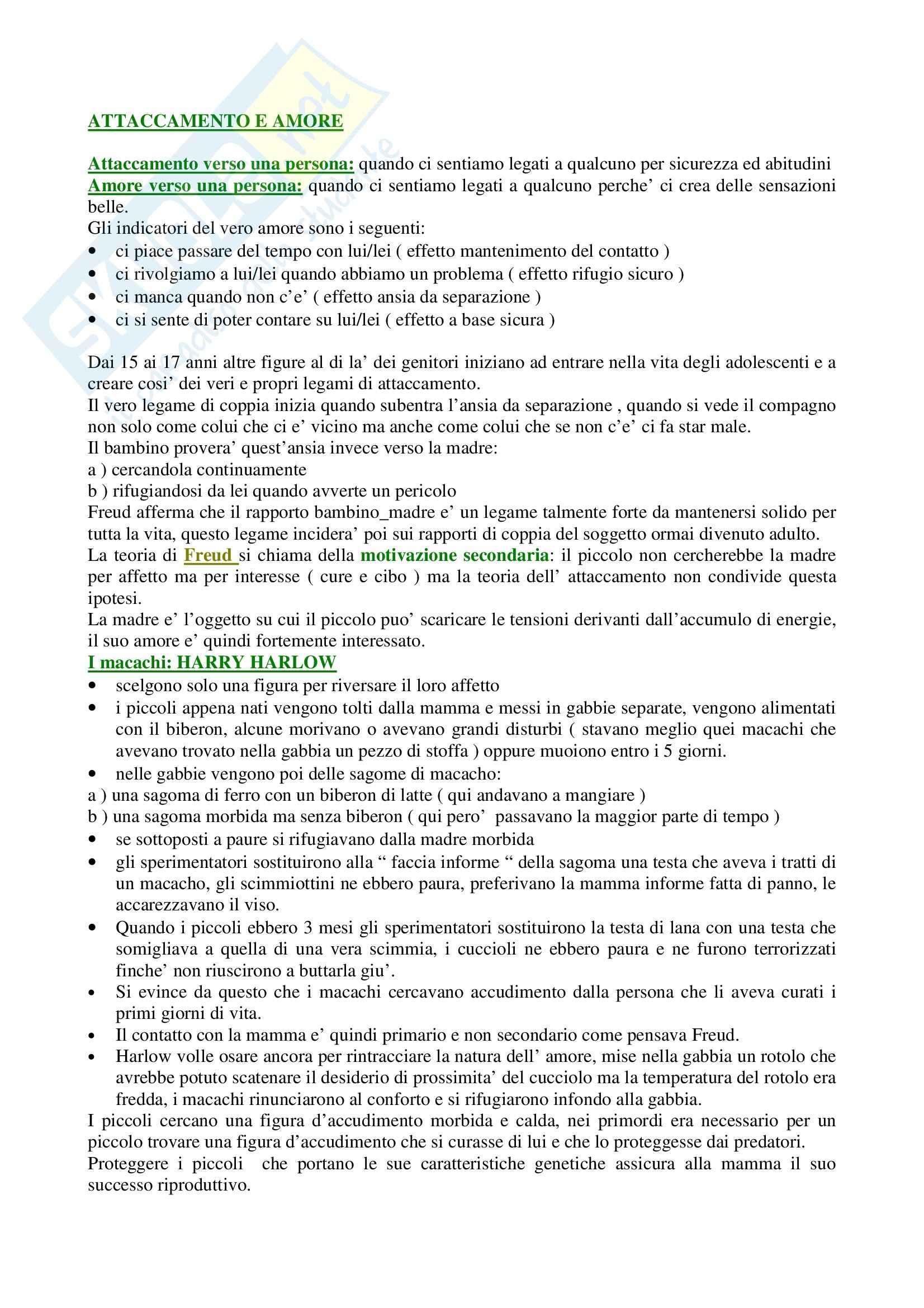 appunto G. Attili Psicologia Sociale