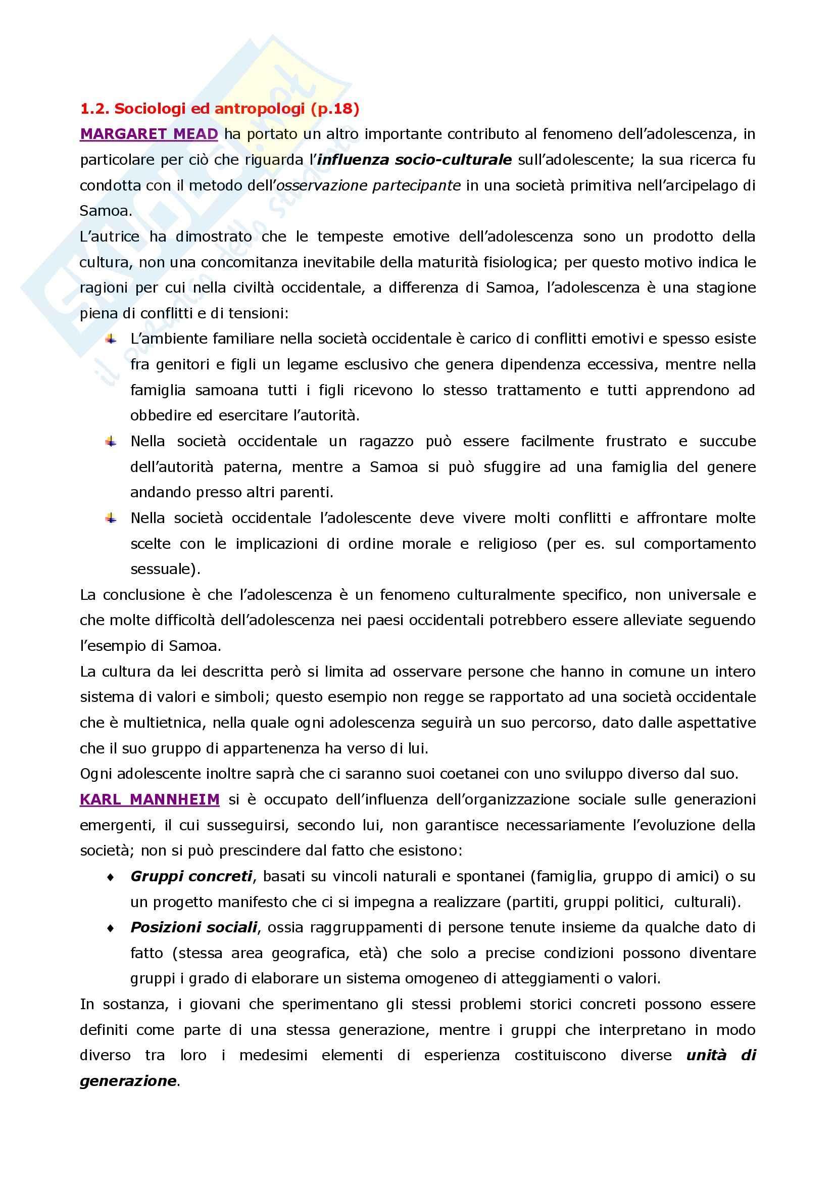 Psicologia dell'adolescenza Pag. 2