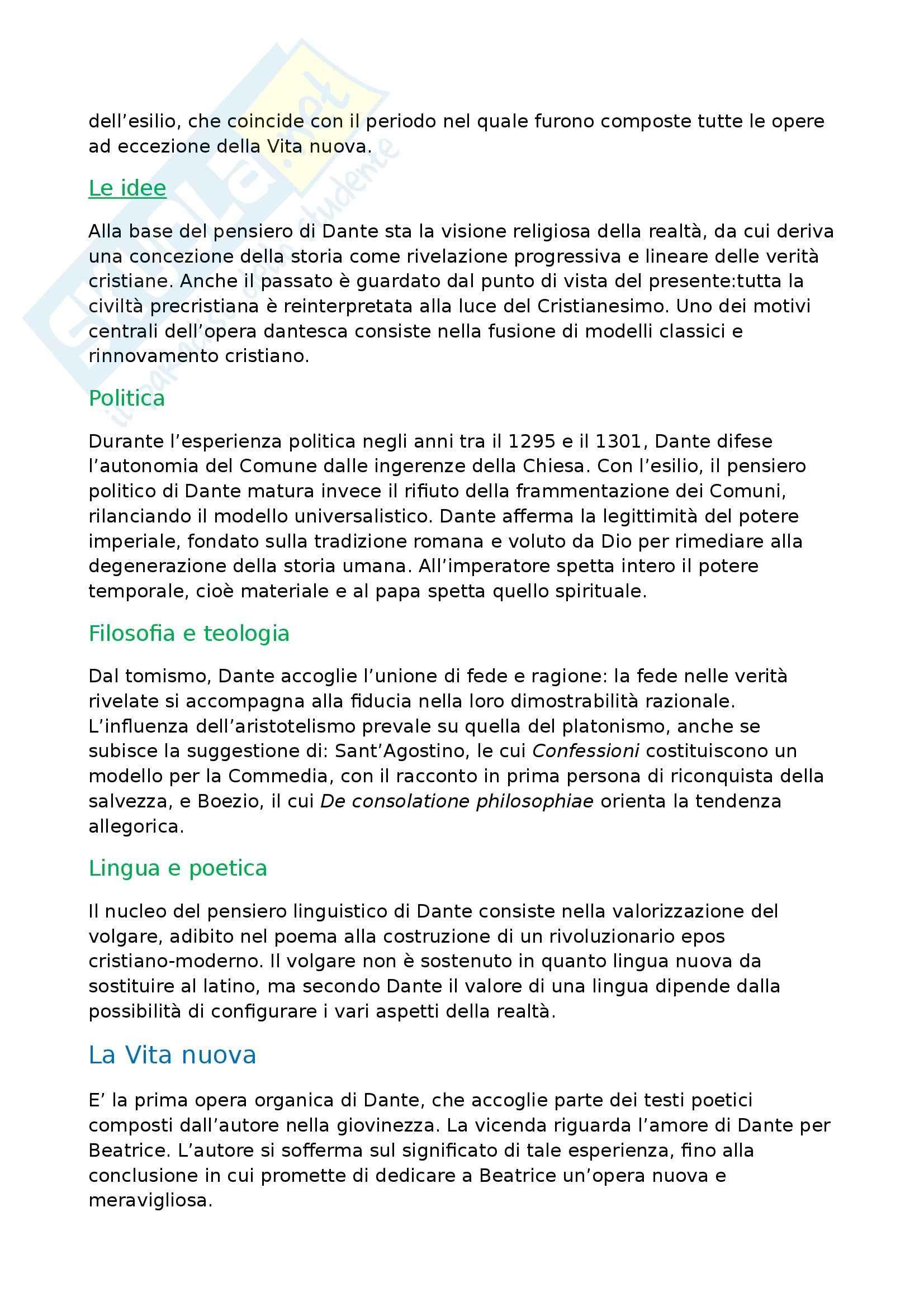 Letteratura italiana - Dante Alighieri Pag. 2