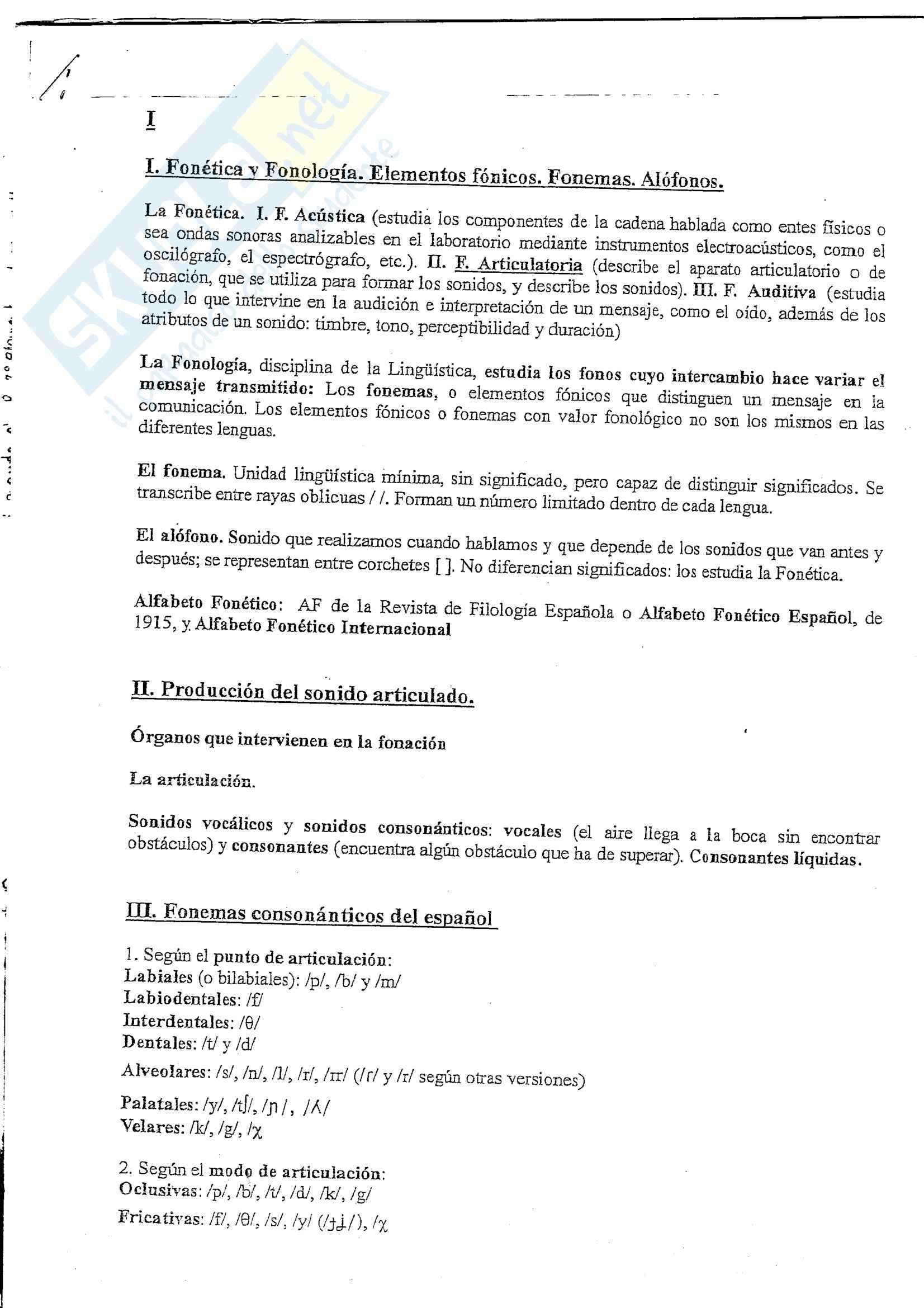 Lingua spagnola 1 - la fonologia