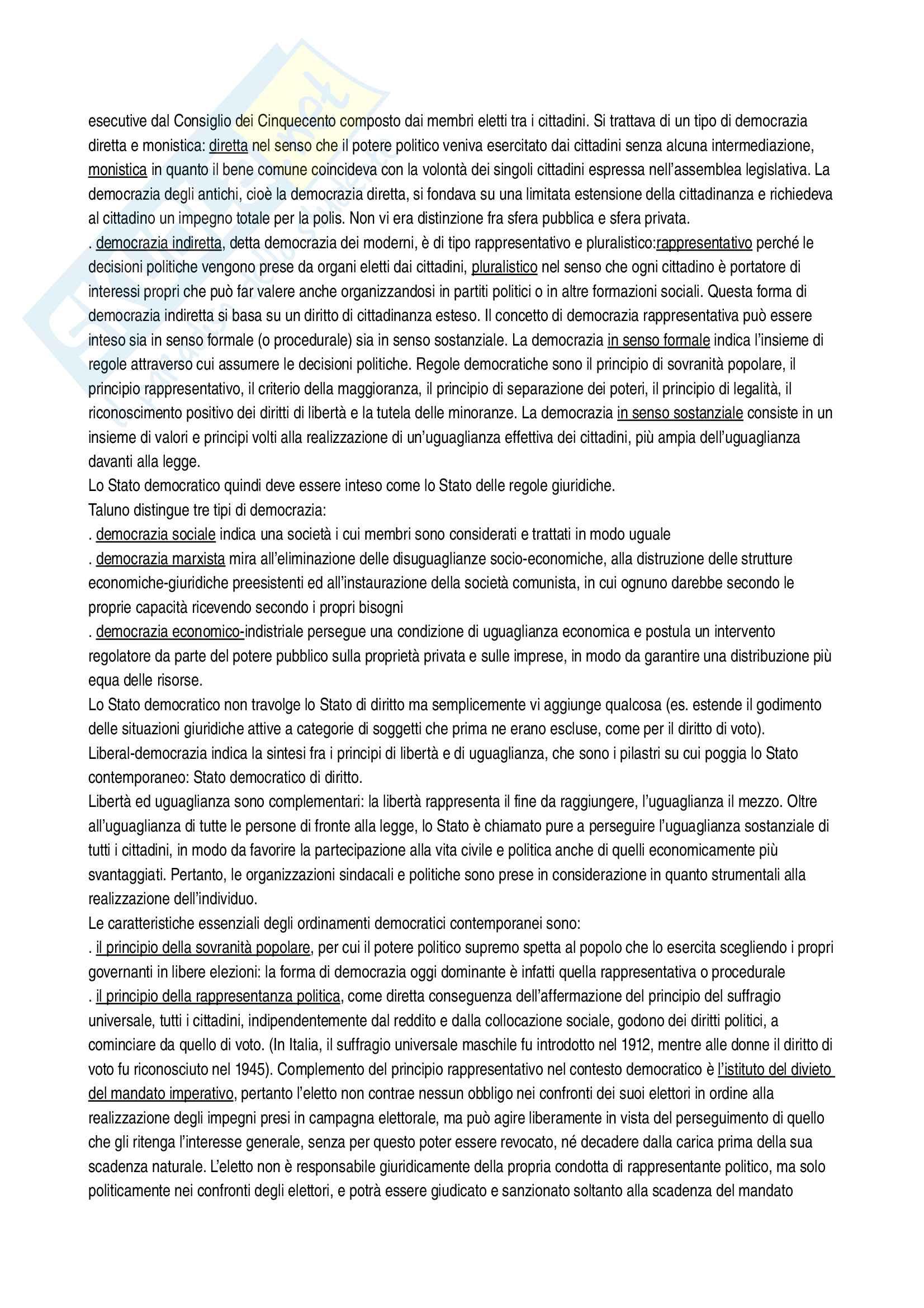 Riassunto esame diritto costituzionale, Vignudelli, libro consigliato Diritto costituzionale, Giappichelli editore Pag. 16