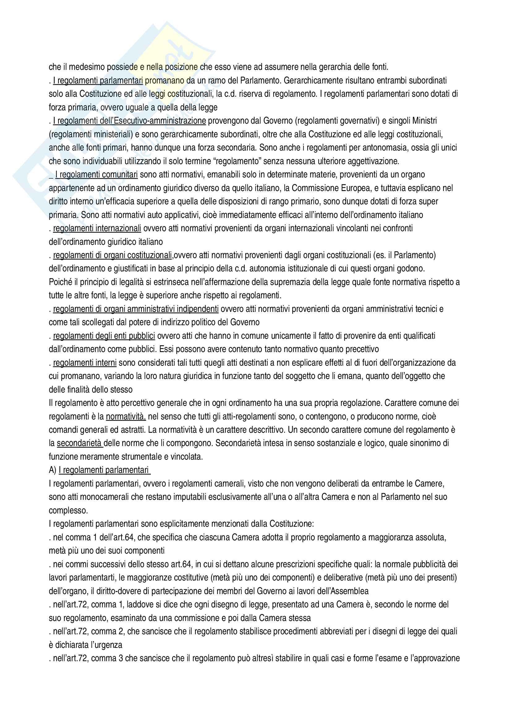 Riassunto esame diritto costituzionale, Vignudelli, libro consigliato Diritto costituzionale, Giappichelli editore Pag. 41