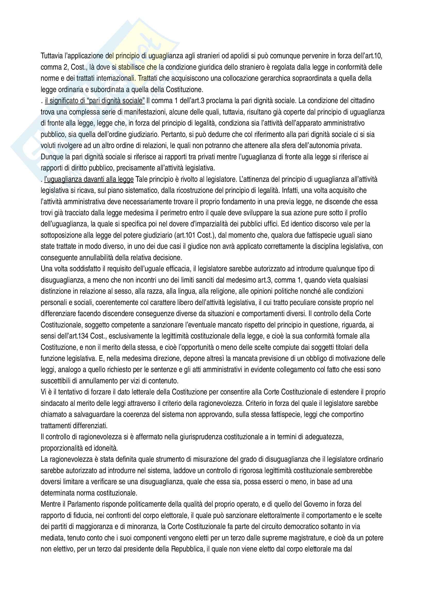 Riassunto esame diritto costituzionale, Vignudelli, libro consigliato Diritto costituzionale, Giappichelli editore Pag. 71