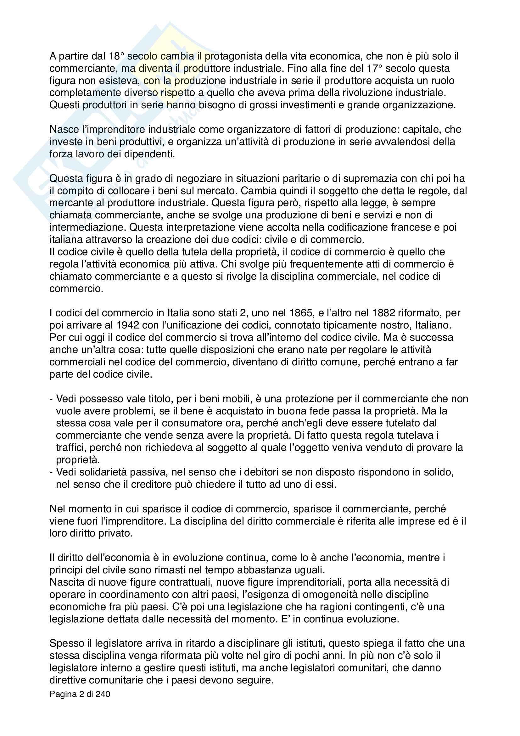 Diritto Commerciale - nozioni principali Pag. 2
