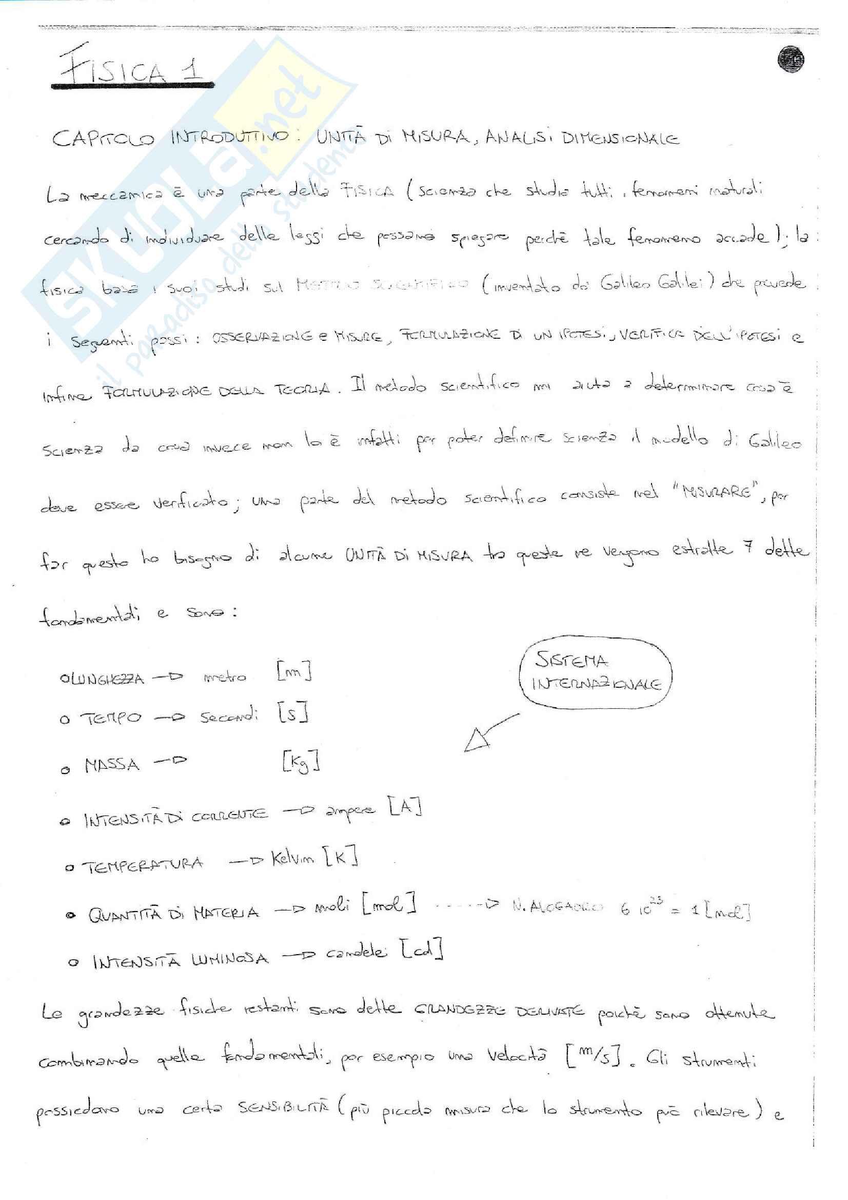 Riassunto e sintesi in schemi esame Fisica 1, prof. Barucca, libri consigliati: Elementi di Fisica - Meccanica - Termodinamica, Mazzoldi - Nigro - Voci; Fisica 1, Vannini - Gettys; Fisica - Volume 1, Mazzoldi - Nigro - Voci