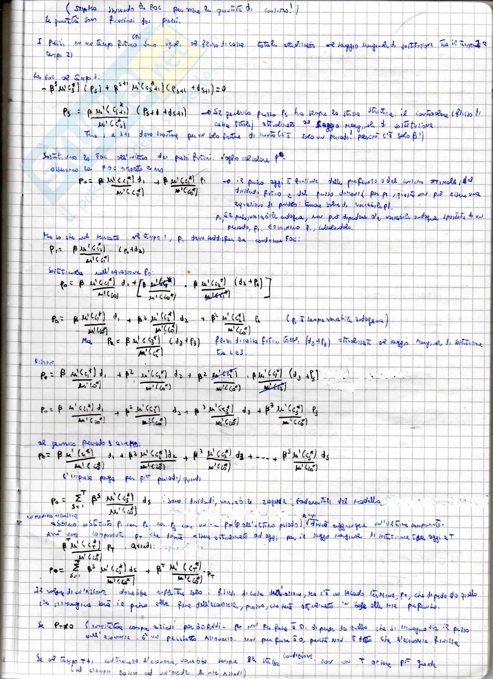 Appunti per l'esame di Teoria della finanza, prof. Puopolo Pag. 16