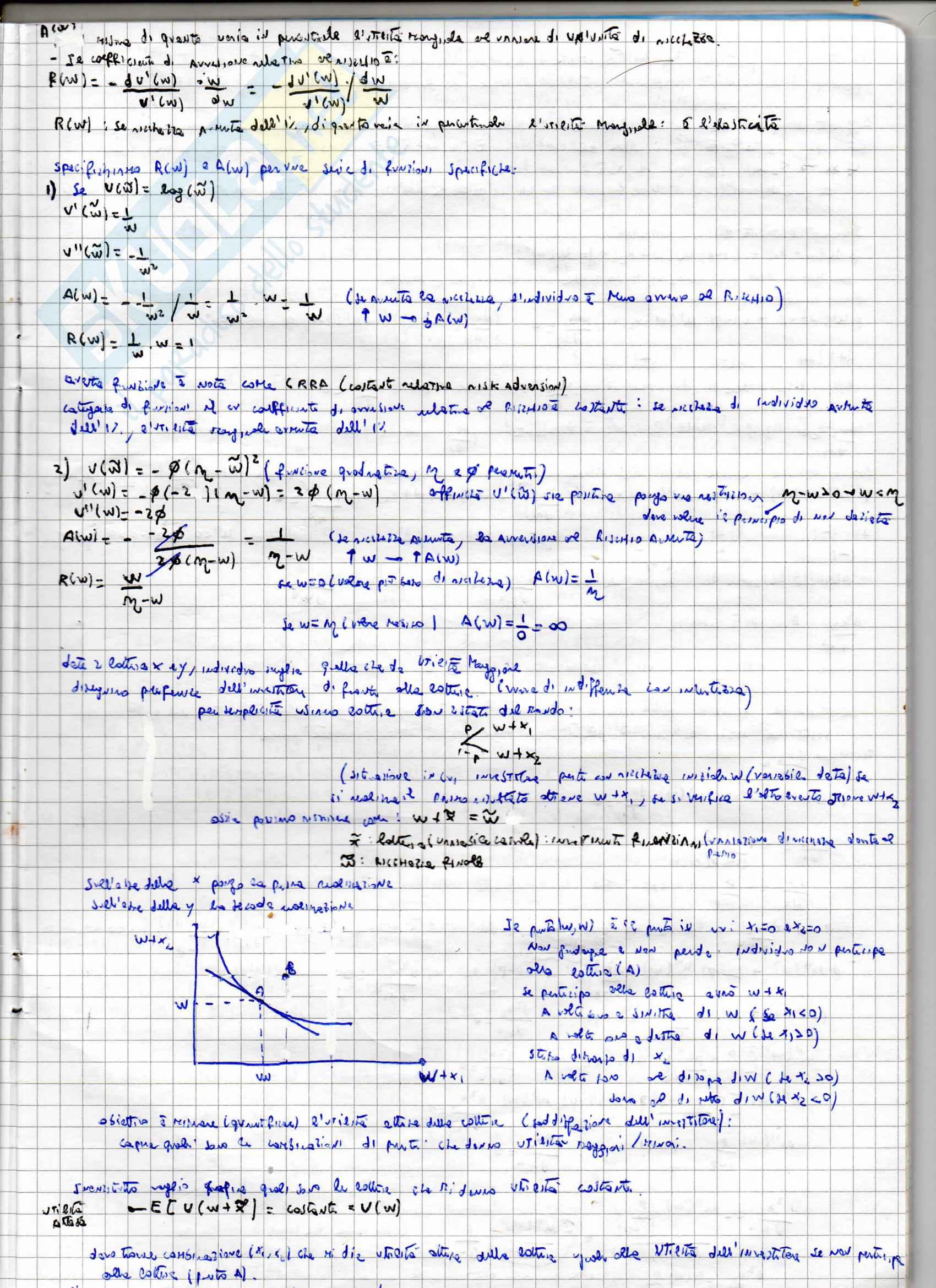 Appunti per l'esame di Teoria della finanza, prof. Puopolo Pag. 26