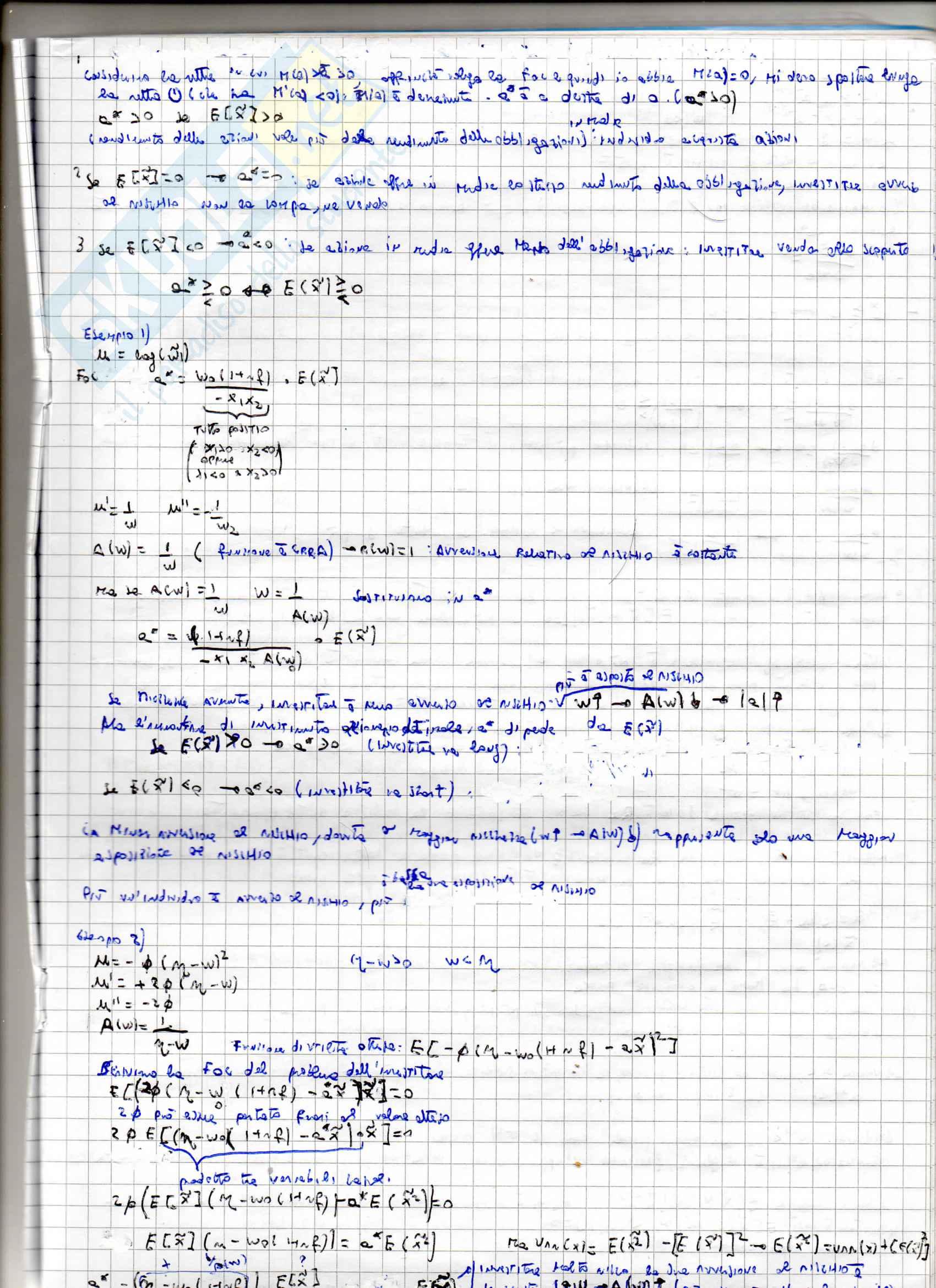 Appunti per l'esame di Teoria della finanza, prof. Puopolo Pag. 41