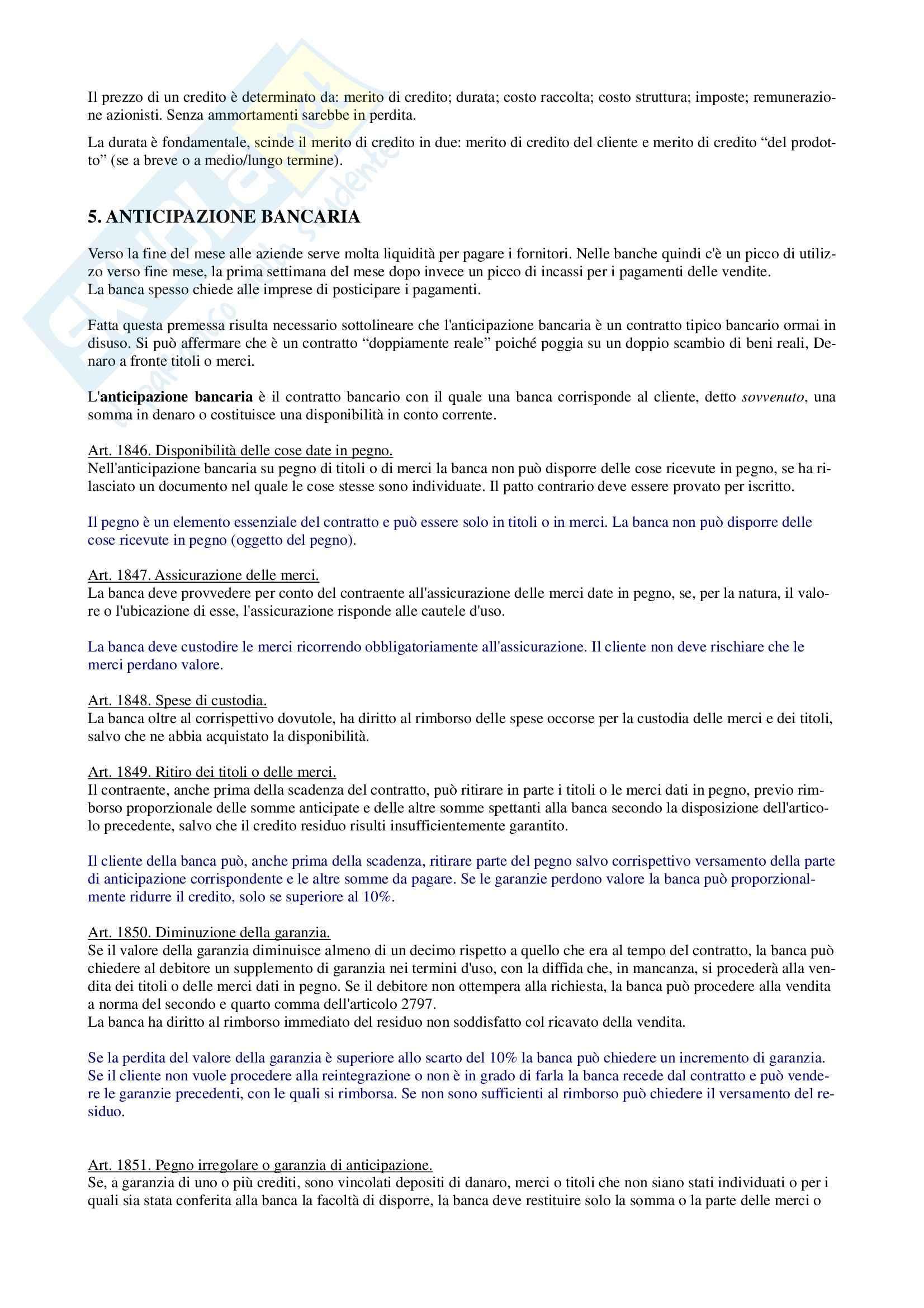 Diritto dei Prodotti Bancari e Assicurativi - Appunti Pag. 6