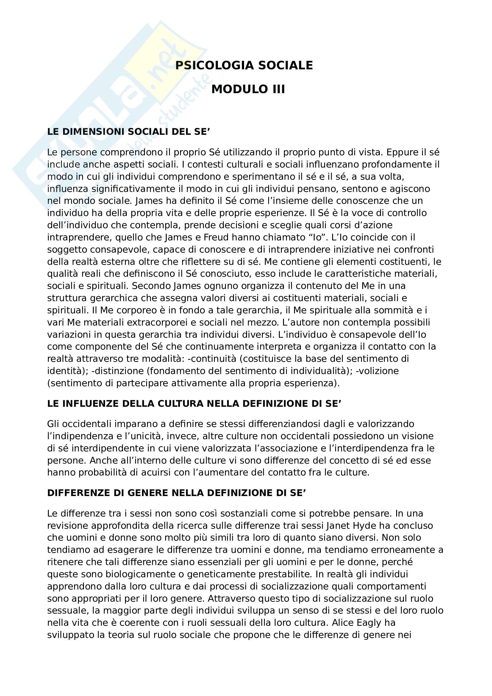 Psicologia sociale, Prof. Renato Pisanti. modulo terzo