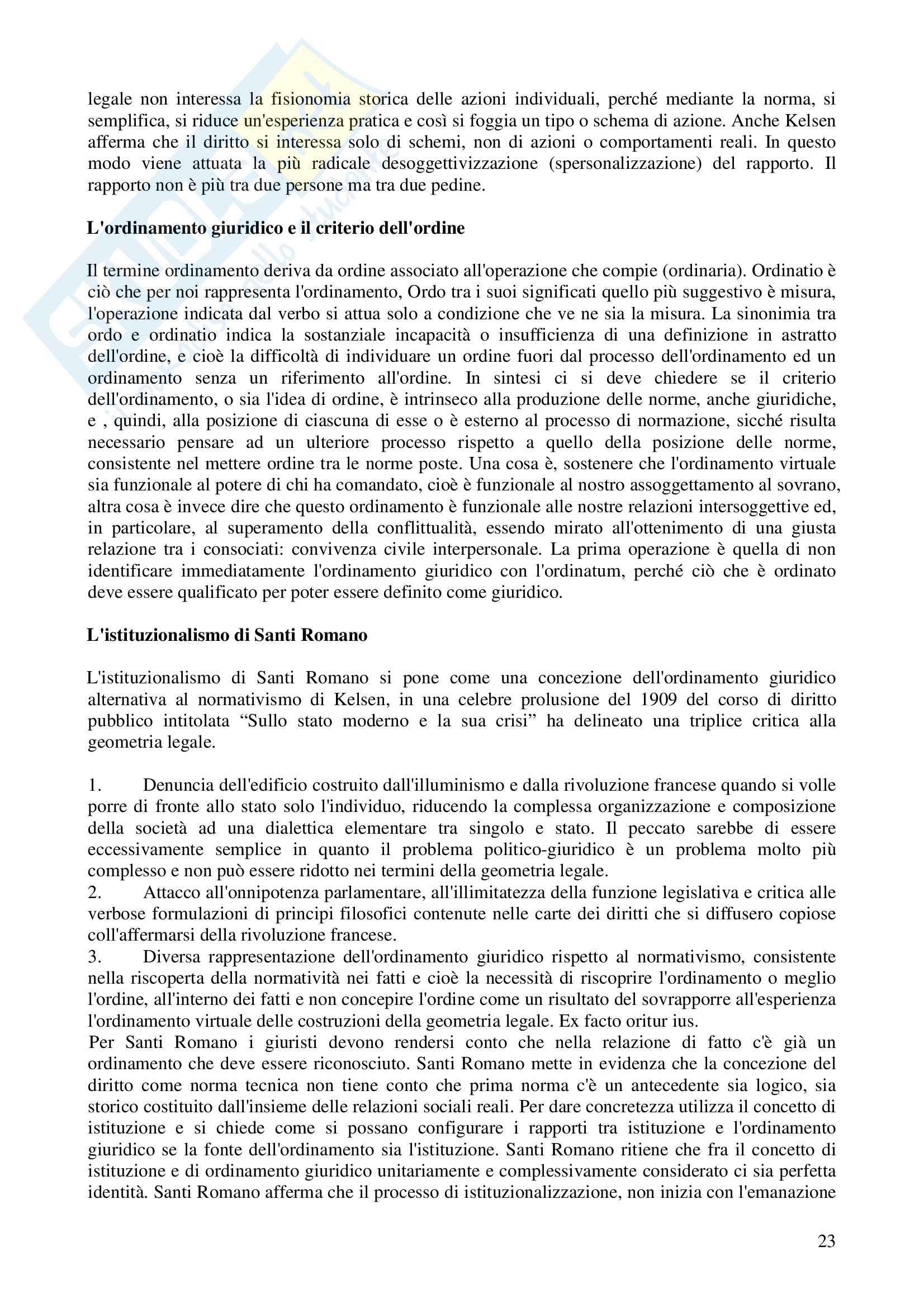 Riassunto esame Filosofia del diritto, prof. Castellano, libro consigliato Le lezioni del quarantesimo anno raccolte dagli allievi, Gentile Pag. 11