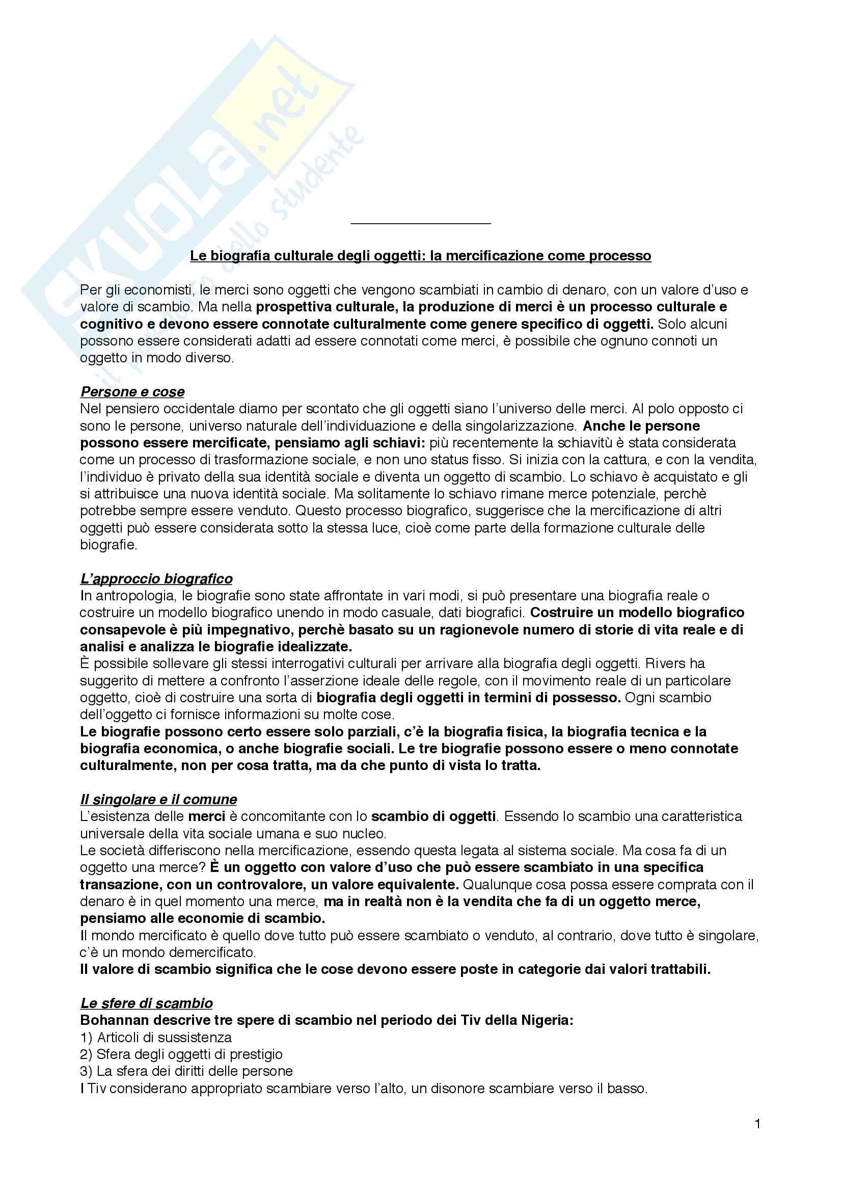 Riassunto esame Sociologia della Cultura, prof. Bartoletti, libro consigliato Attrezzi per Vivere di Mora