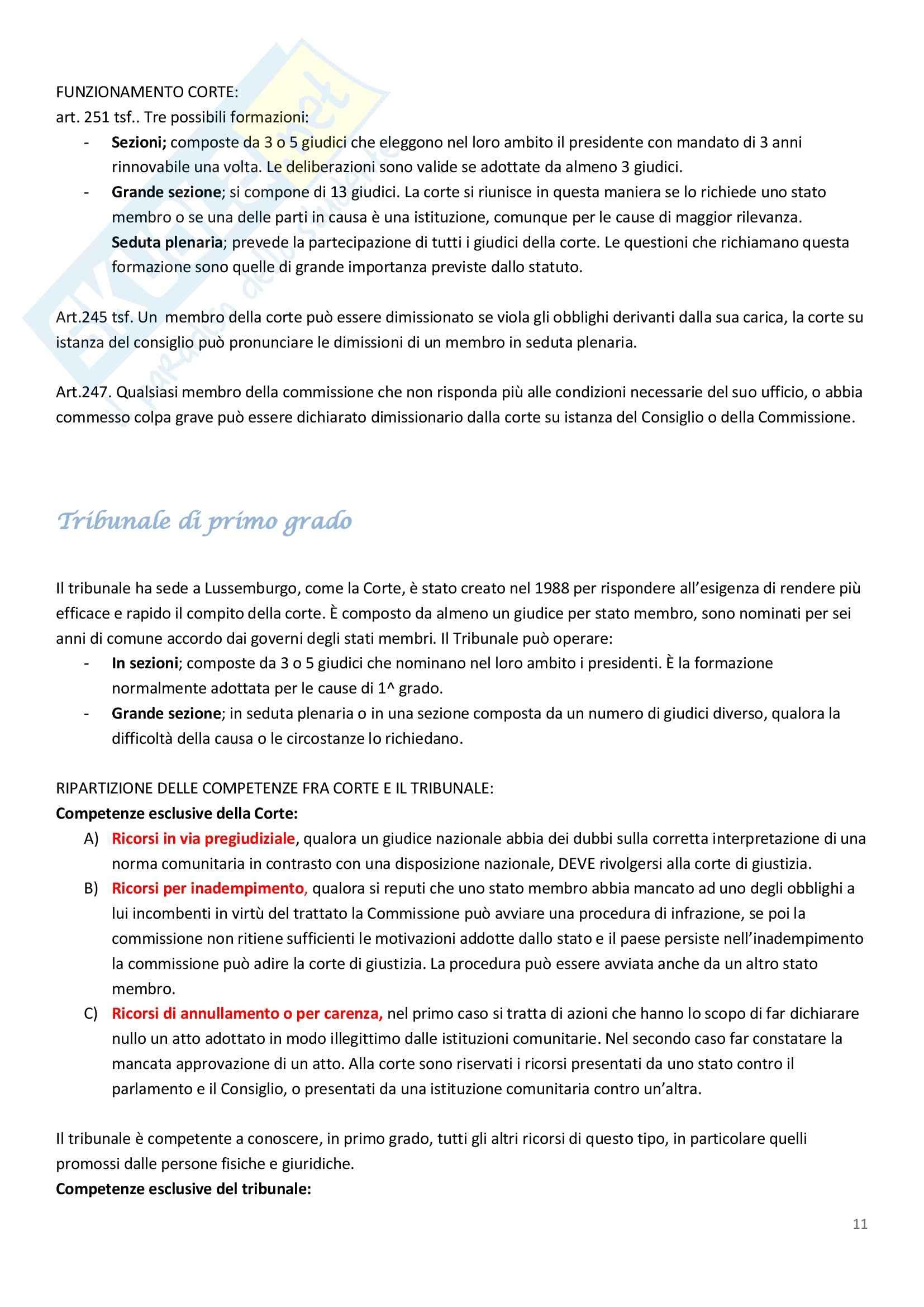 Diritto dell'Unione Europea - Appunti Pag. 11