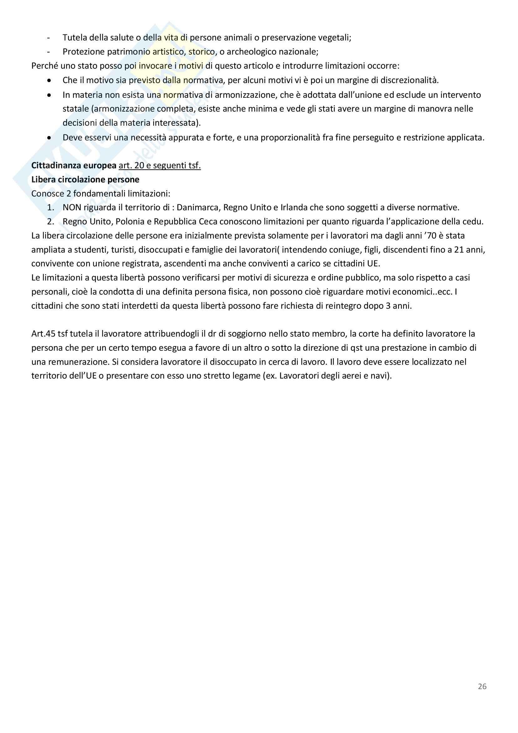 Diritto dell'Unione Europea - Appunti Pag. 26