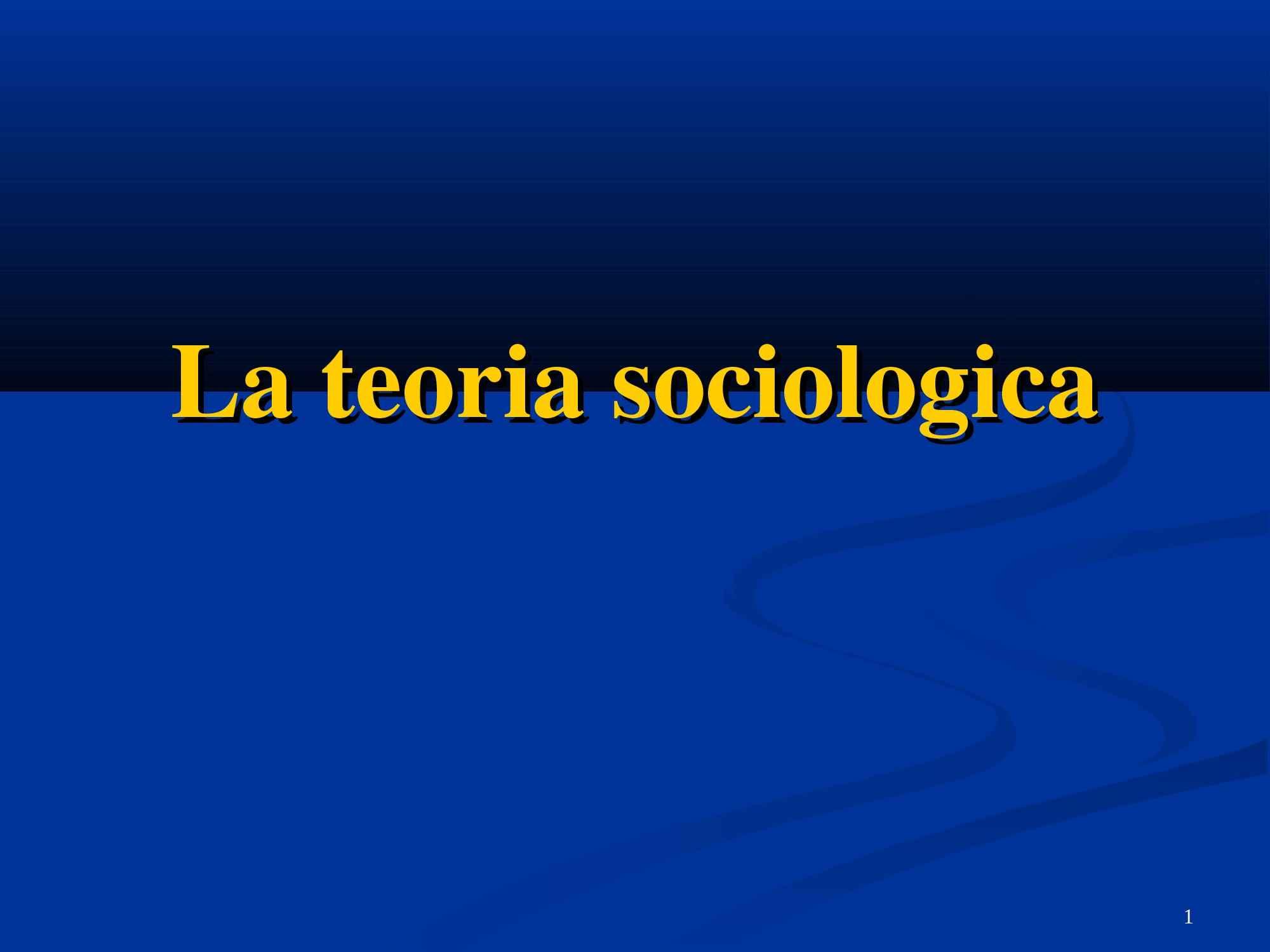 Teoria e ricerca empirica