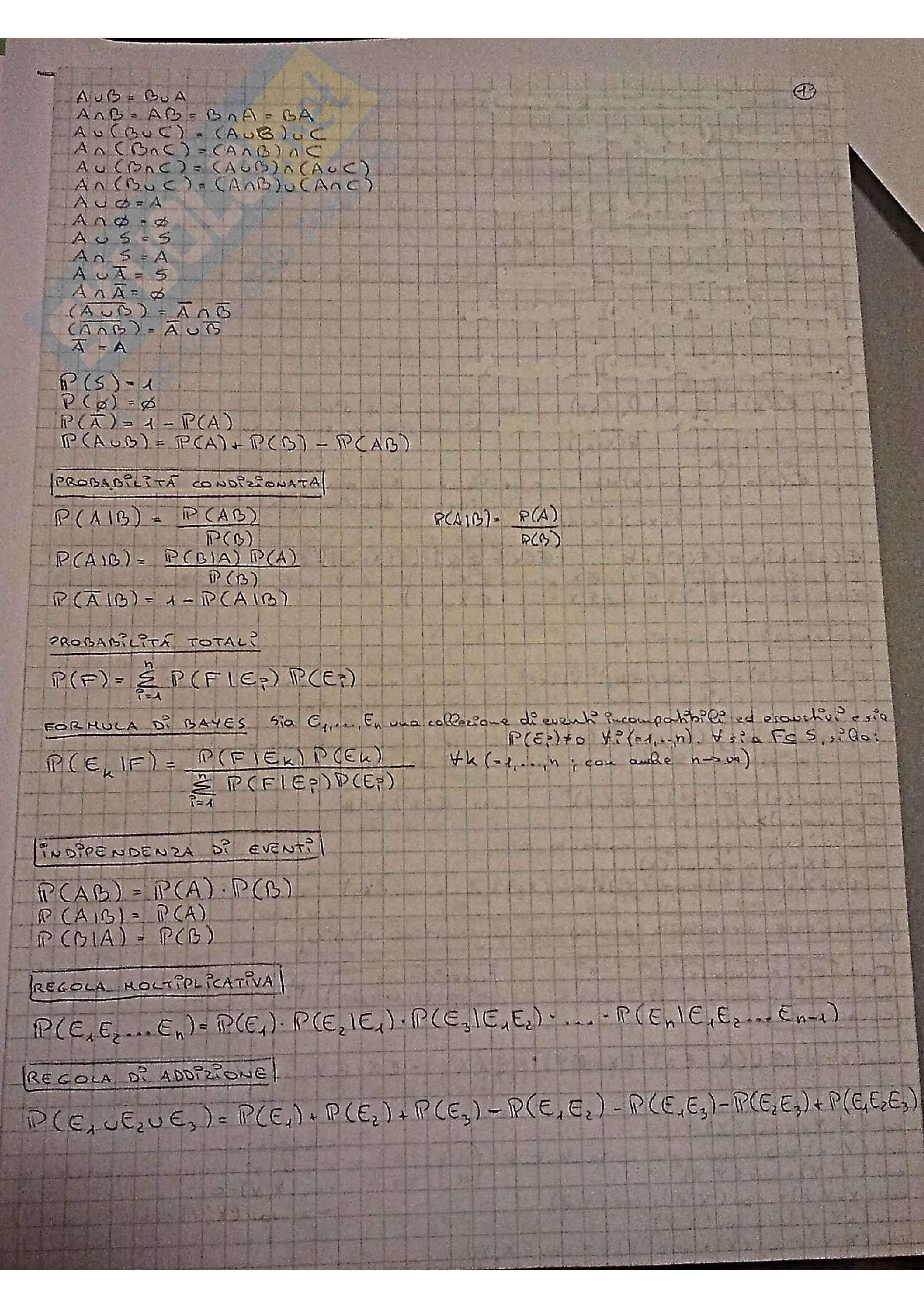Statistica - Domande e formulario