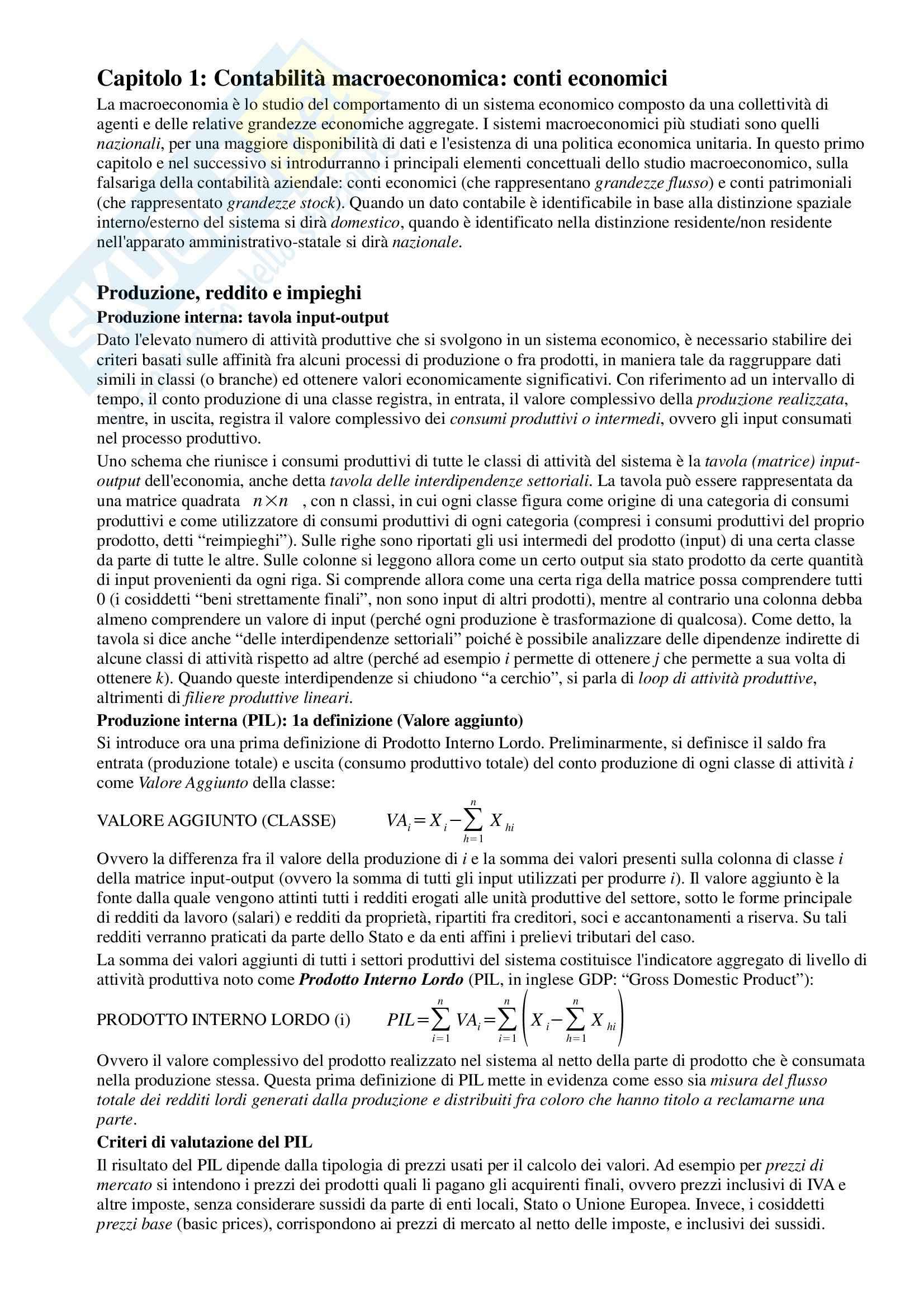 Riassunto esame Macroeconomia, prof. Dardi, libro consigliato Lezioni di Macroeconomia, Dardi