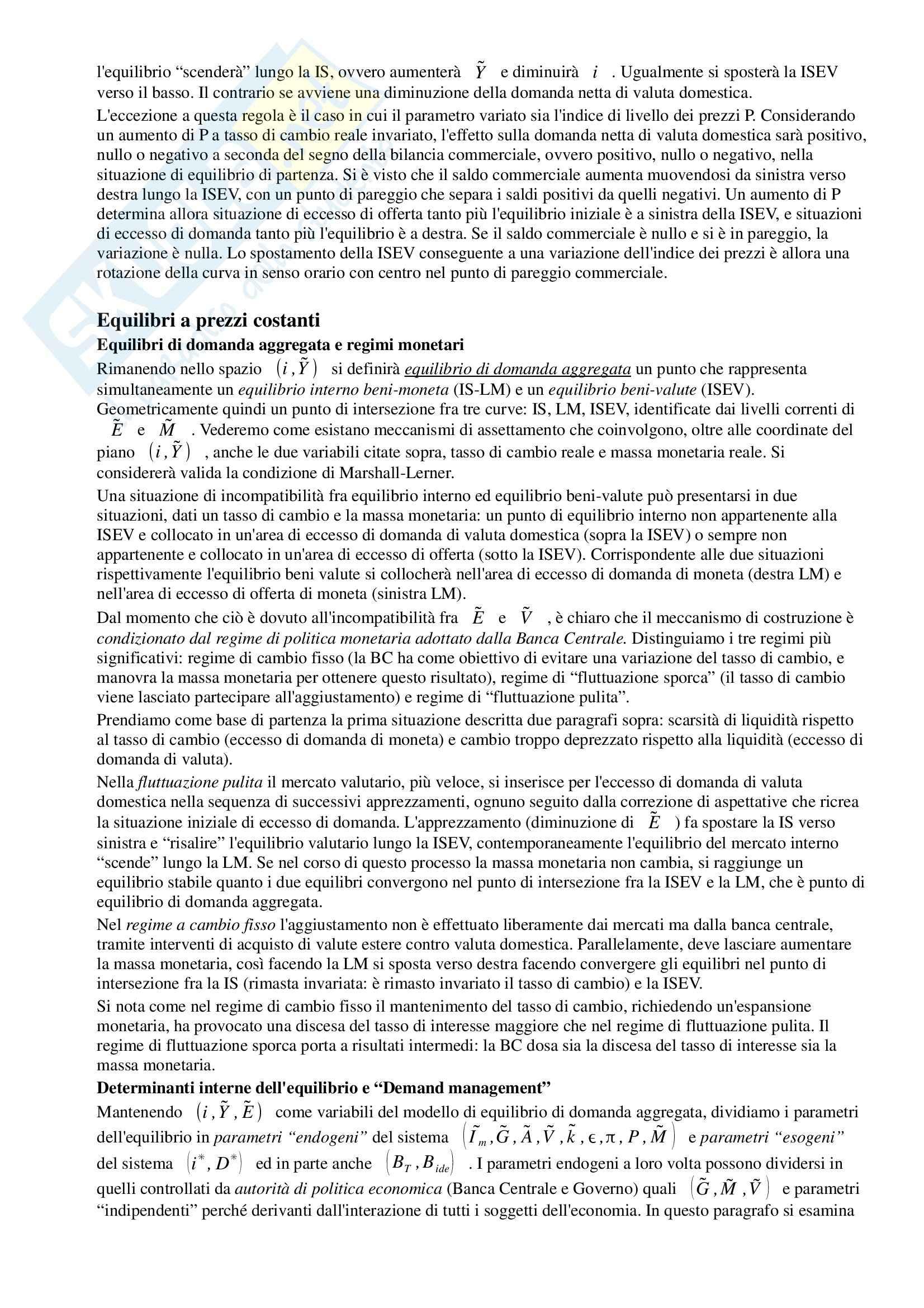 Riassunto esame Macroeconomia, prof. Dardi, libro consigliato Lezioni di Macroeconomia, Dardi Pag. 51