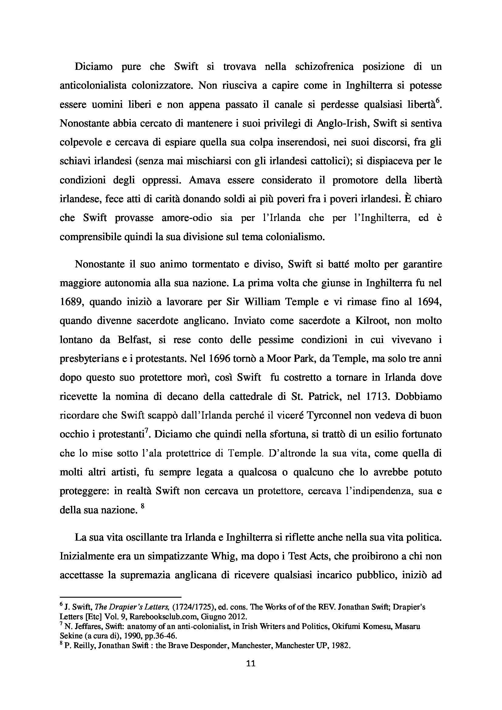 Tesi - A Modest Proposal Jonathan Swift Pag. 11