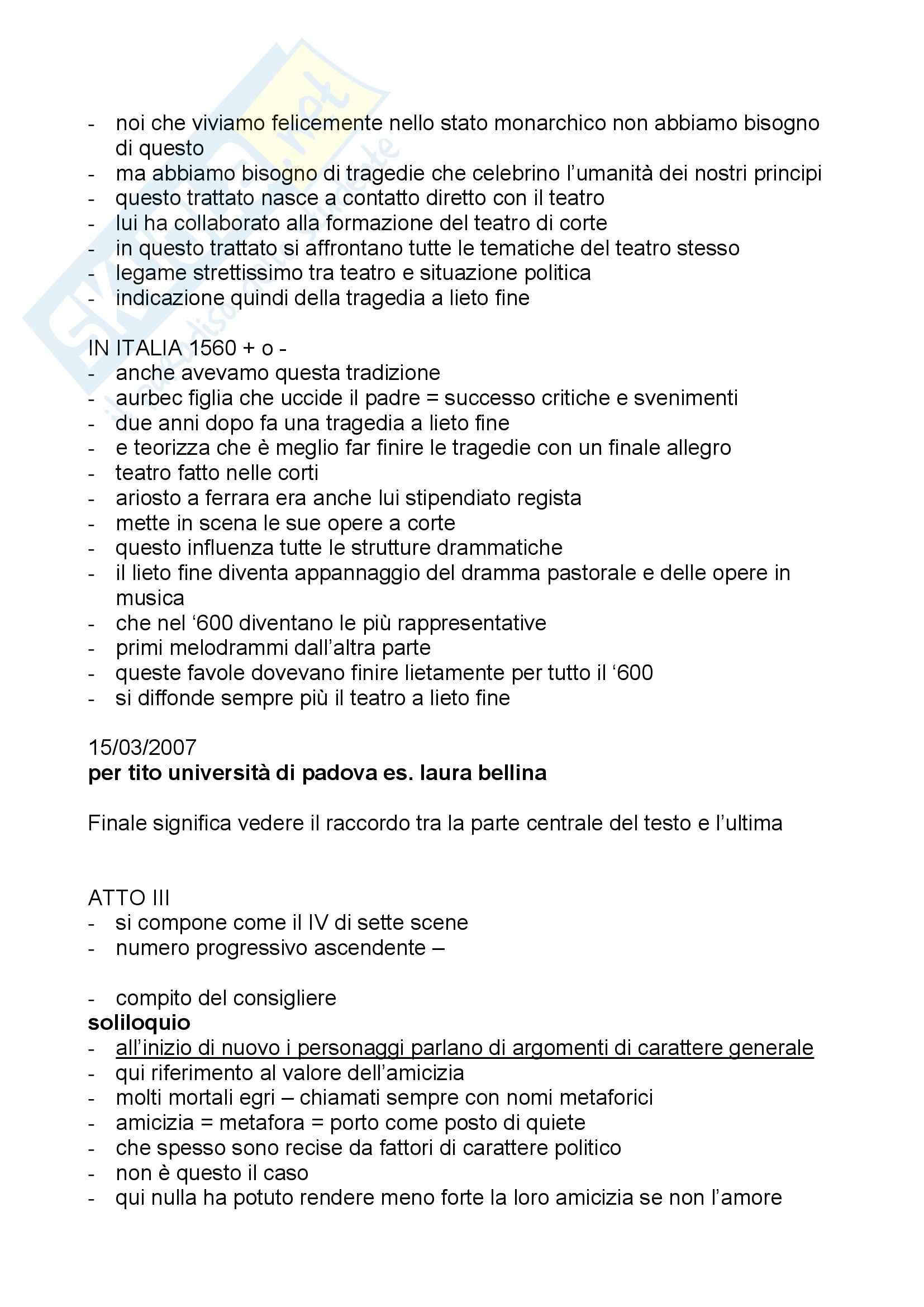 Letteratura teatrale italiana - teatro regolare Pag. 11