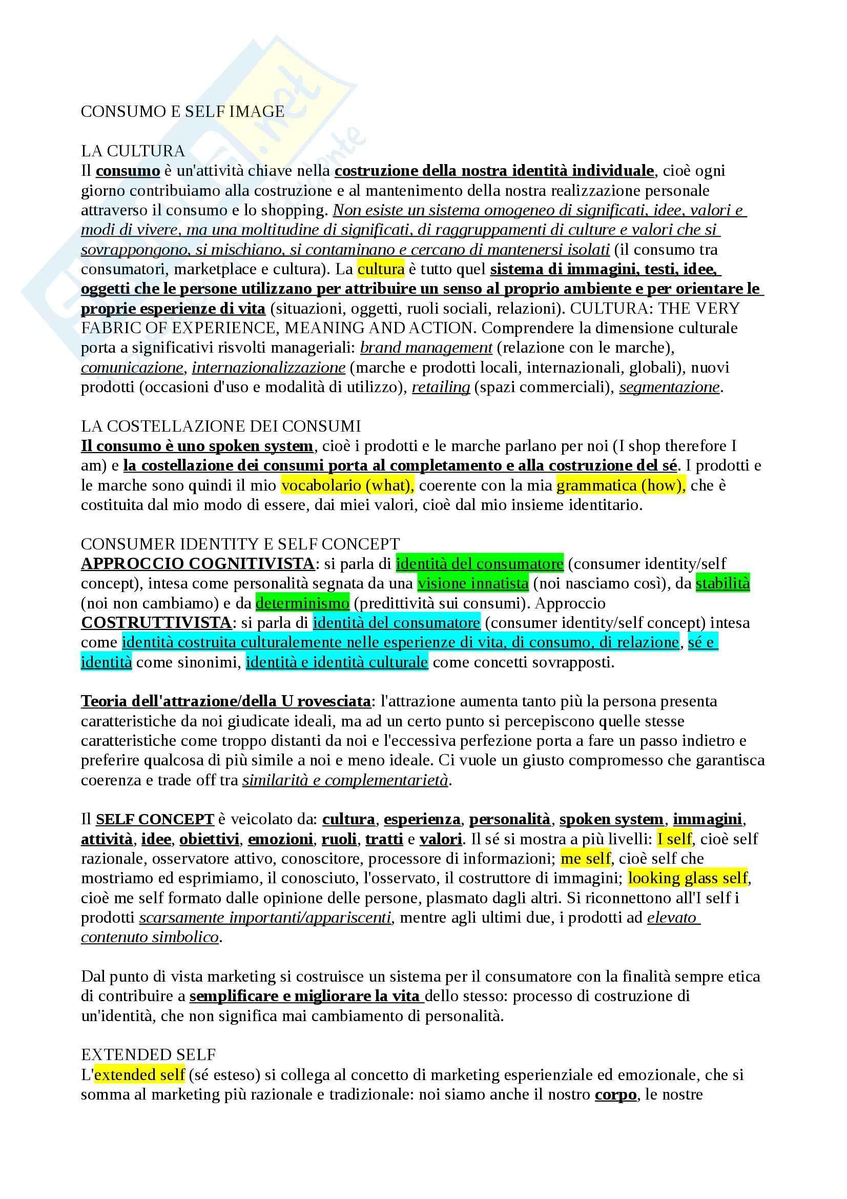 appunto S. Borghini Understanding Consumer 2