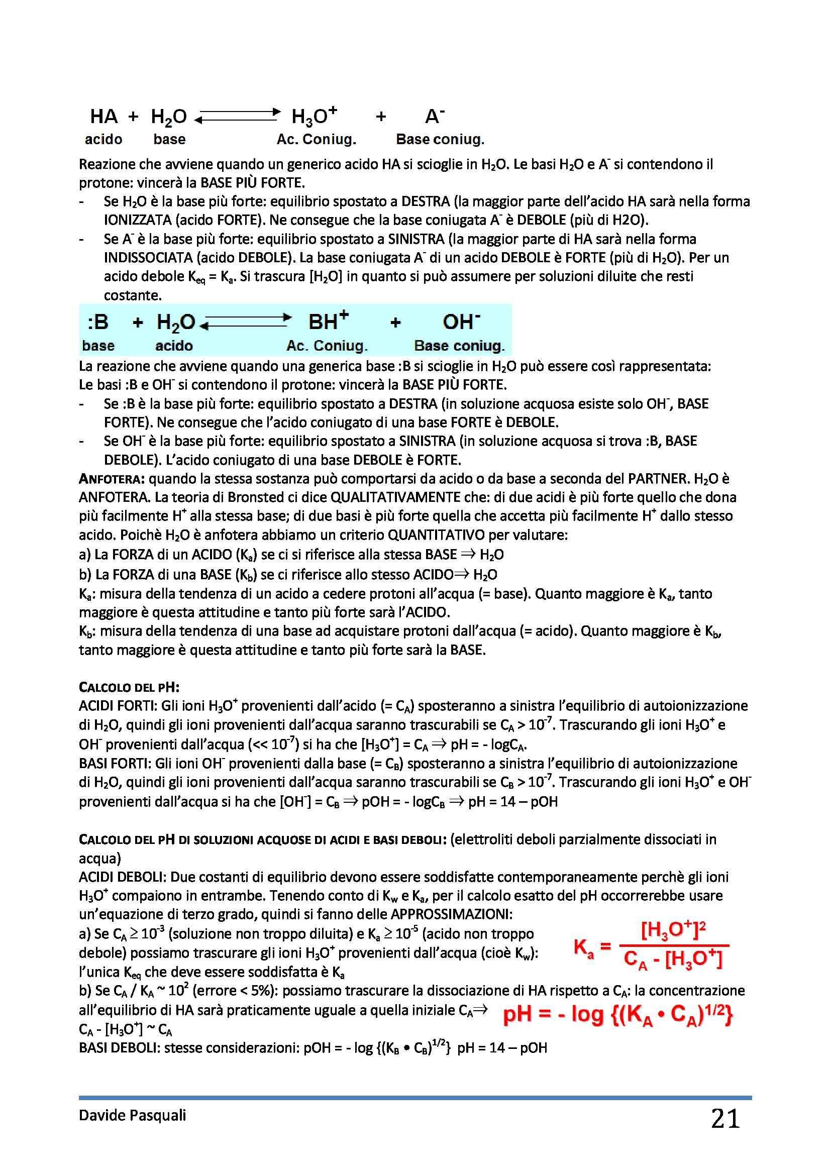 Fondamenti di chimica  - Appunti Pag. 21