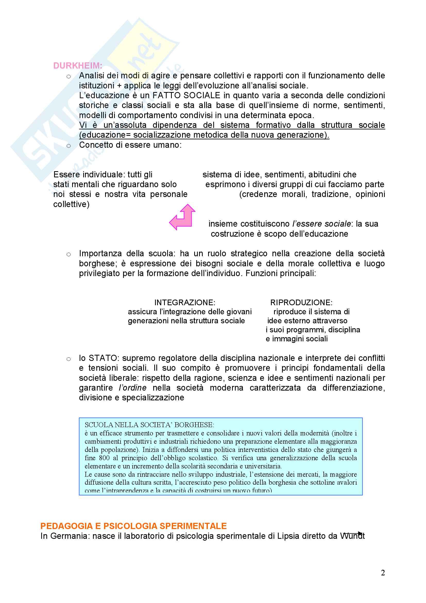 Riassunto esame Pedagogia, prof. Chiosso, libro consigliato Novecento pedagogico Pag. 2