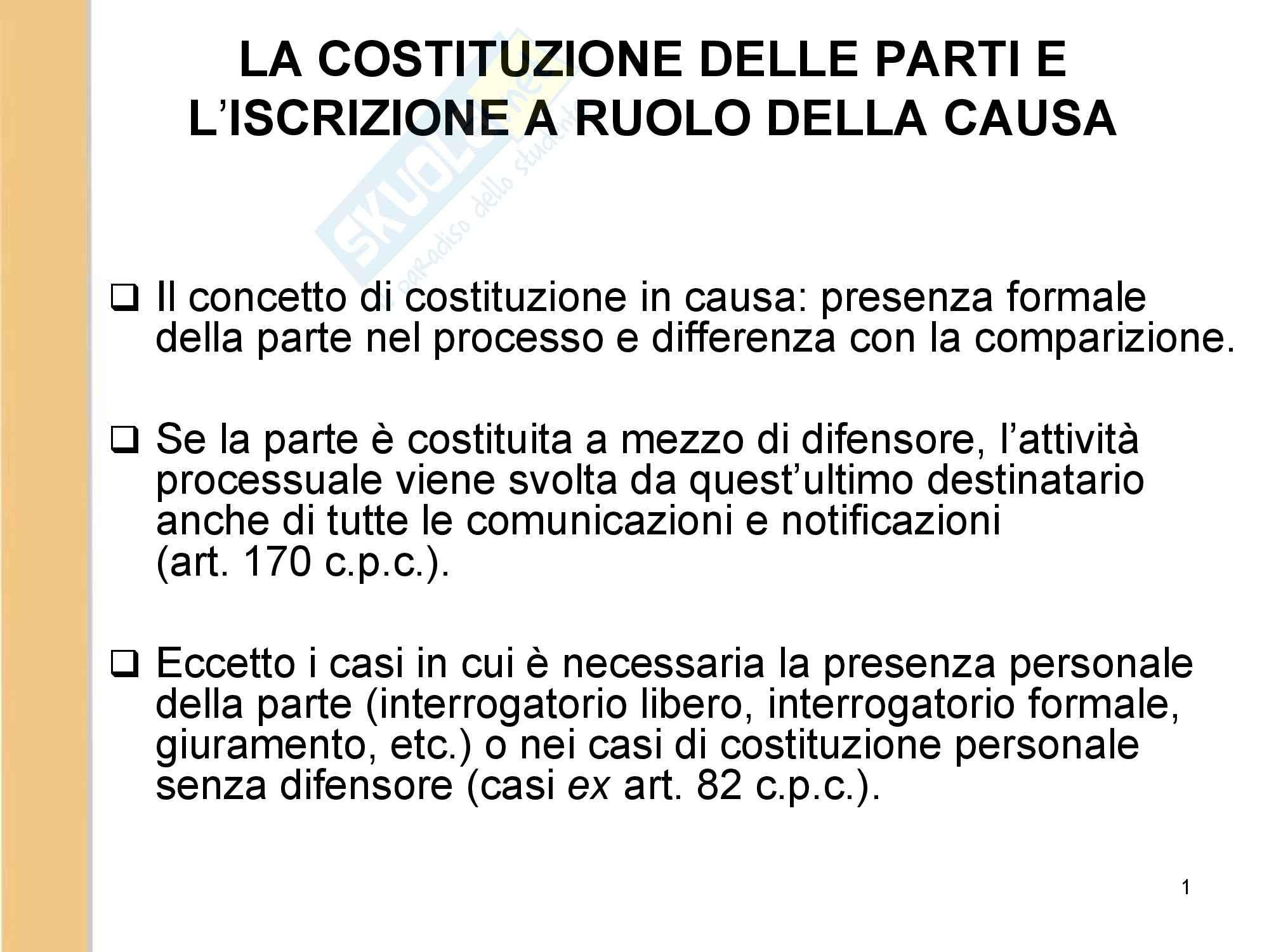 Diritto processuale civile slide 2