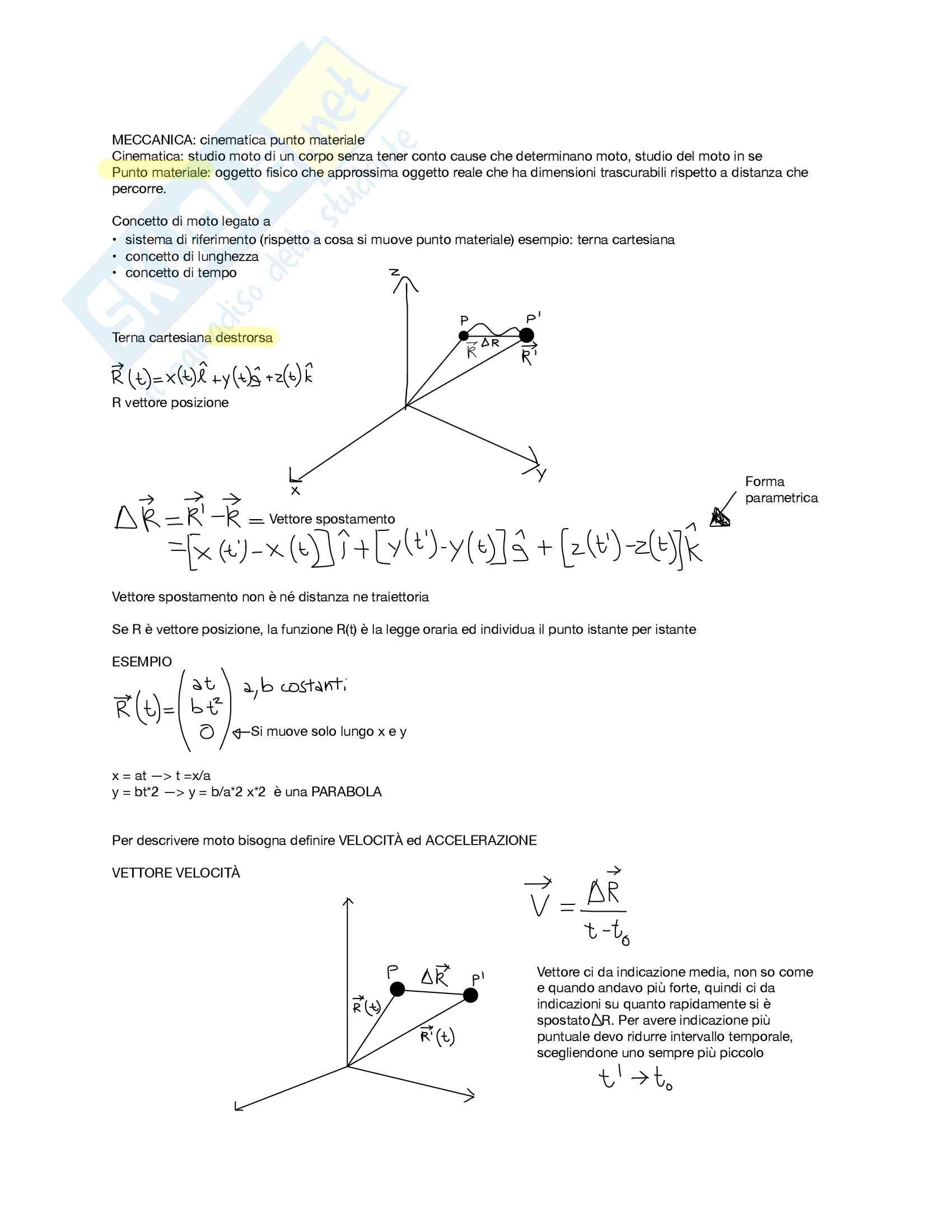 Fisica sperimentale primo parziale