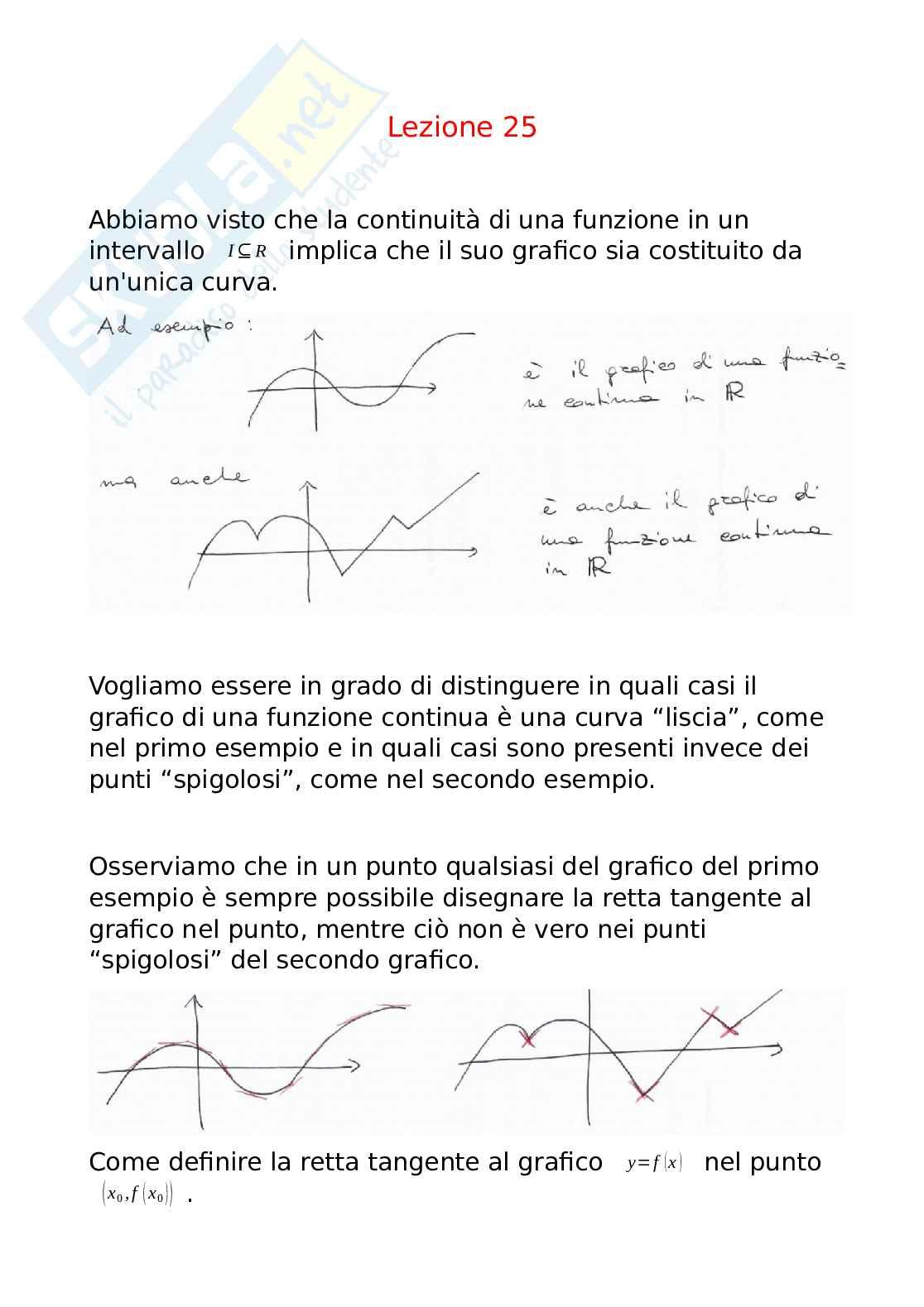 Derivate di funzioni, significato geometrico - Analisi matematica