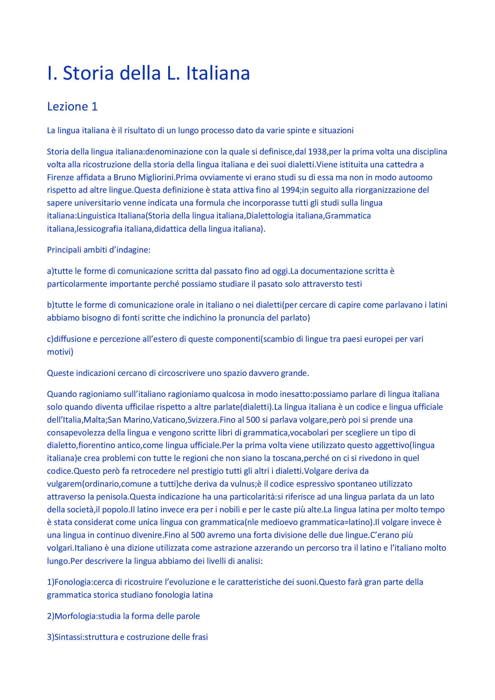 Appunti personali delle lezioni del Professor Motolese