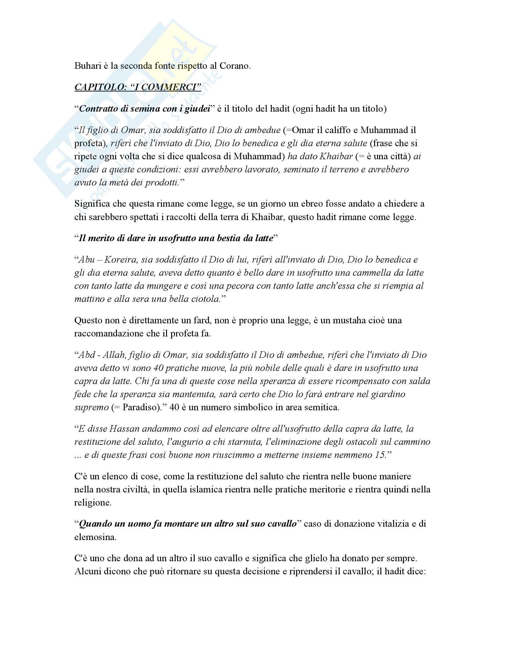 Appunti esame Antropologia culturale dei paesi arabi, prof. Persichetti Pag. 31