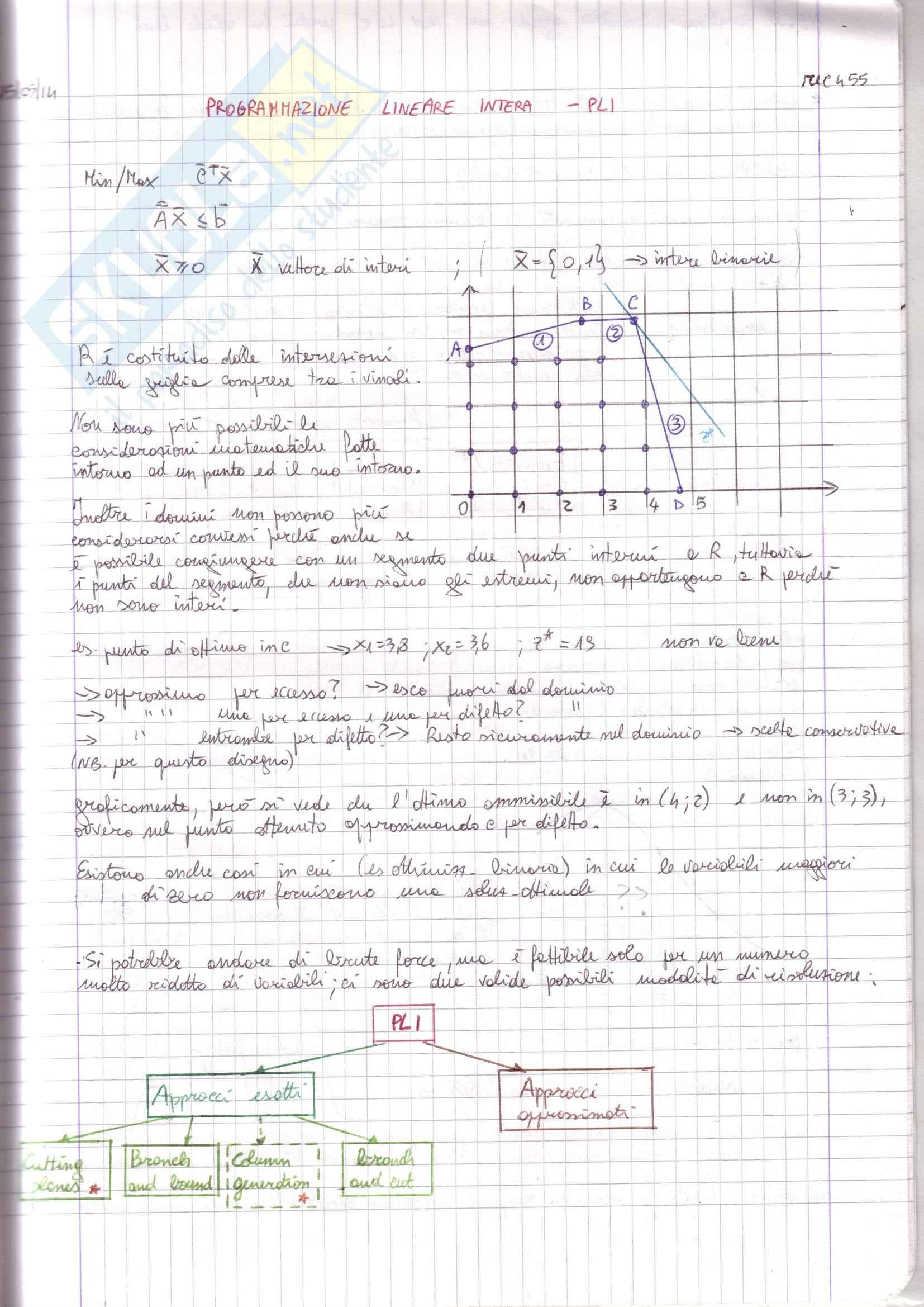 Programmazione lineare intera, progr. su rete, problemi di flusso