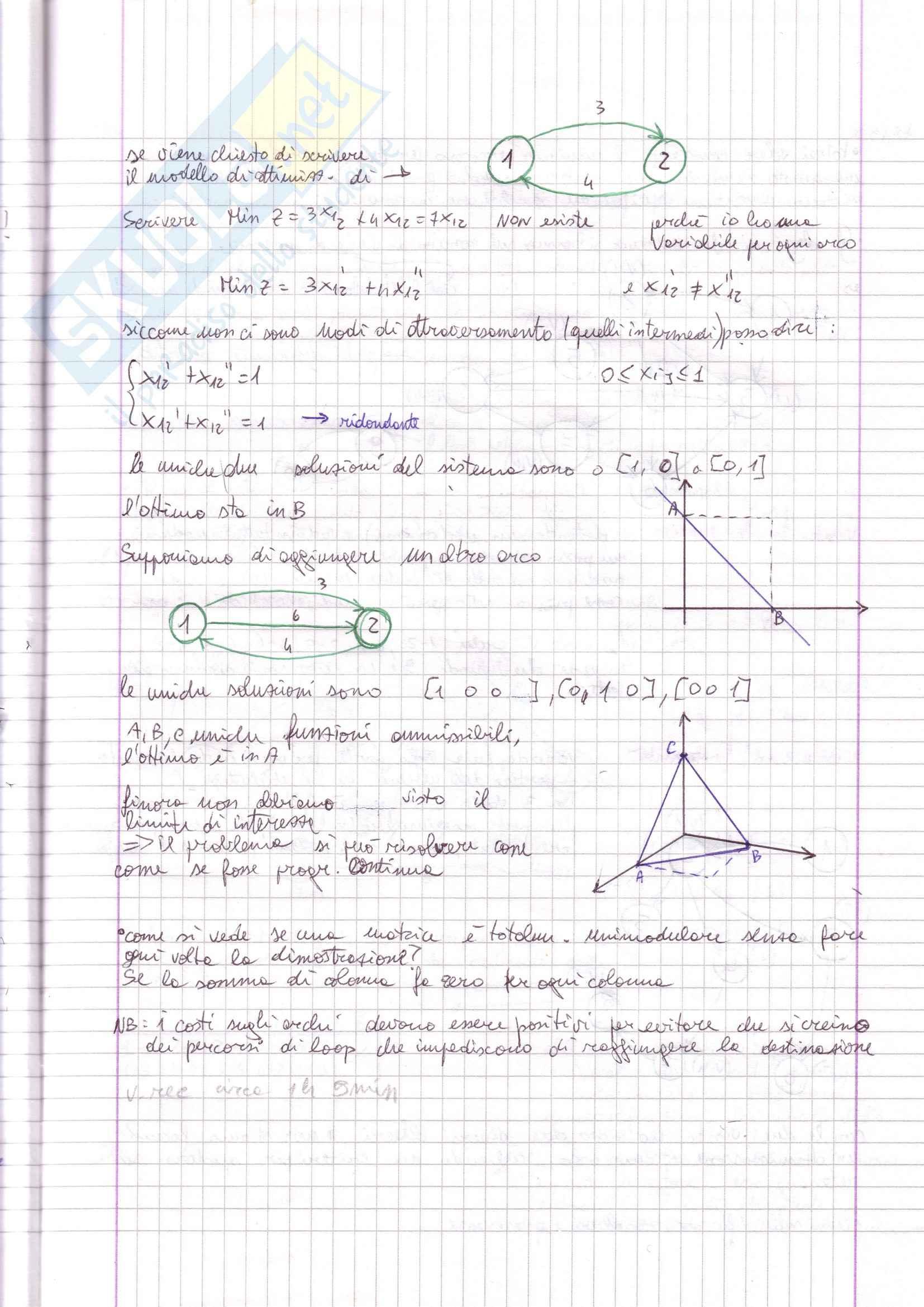 Programmazione lineare intera, progr. su rete, problemi di flusso Pag. 31